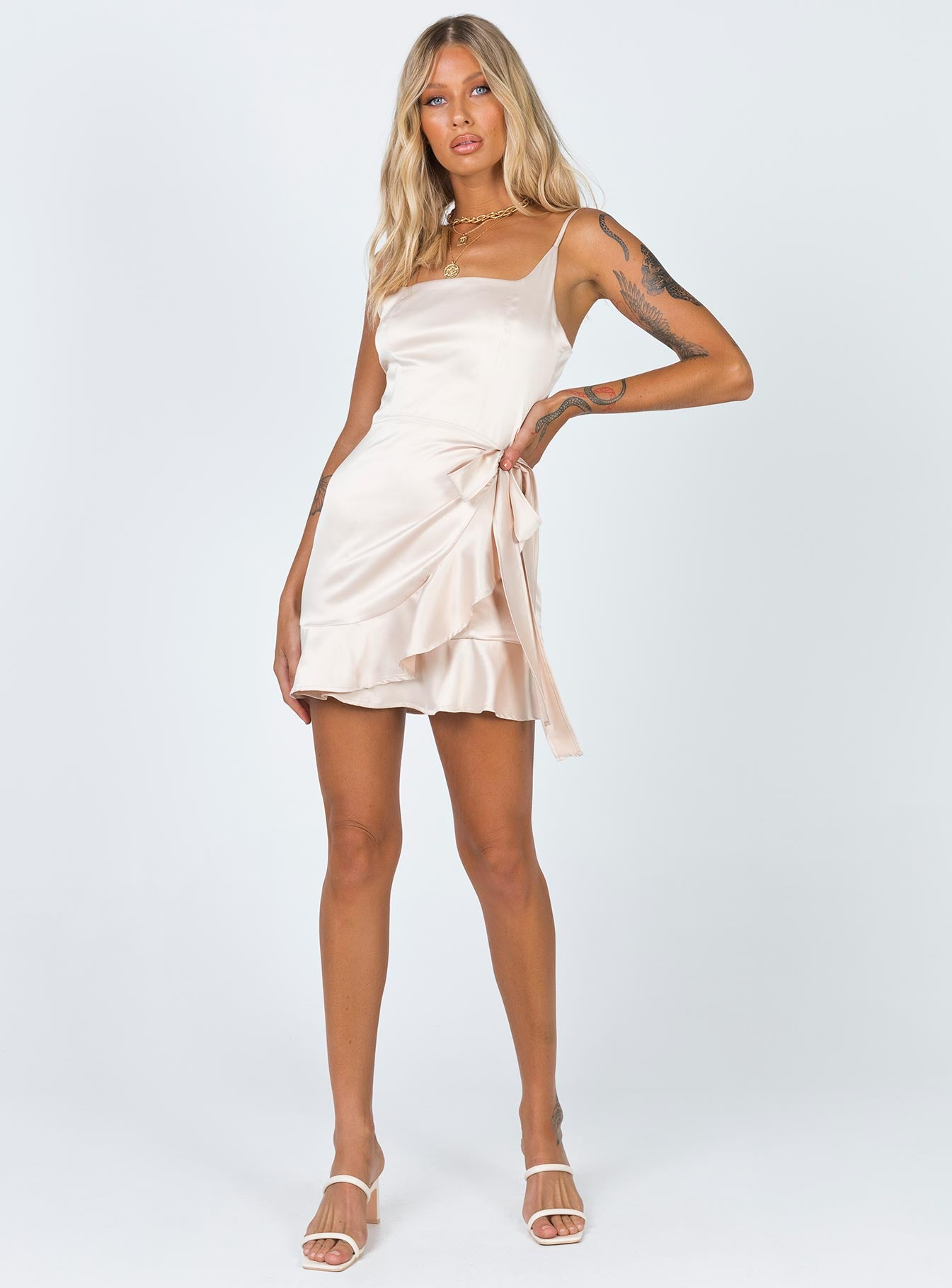 Cottage Hill Mini Dress Champagne