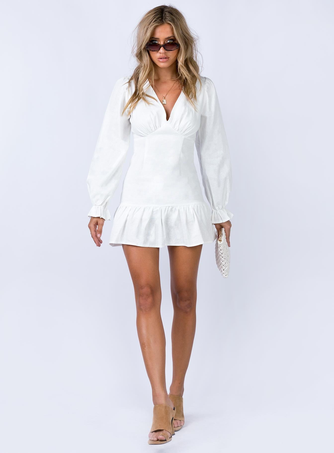 The Valley Mini Dress White