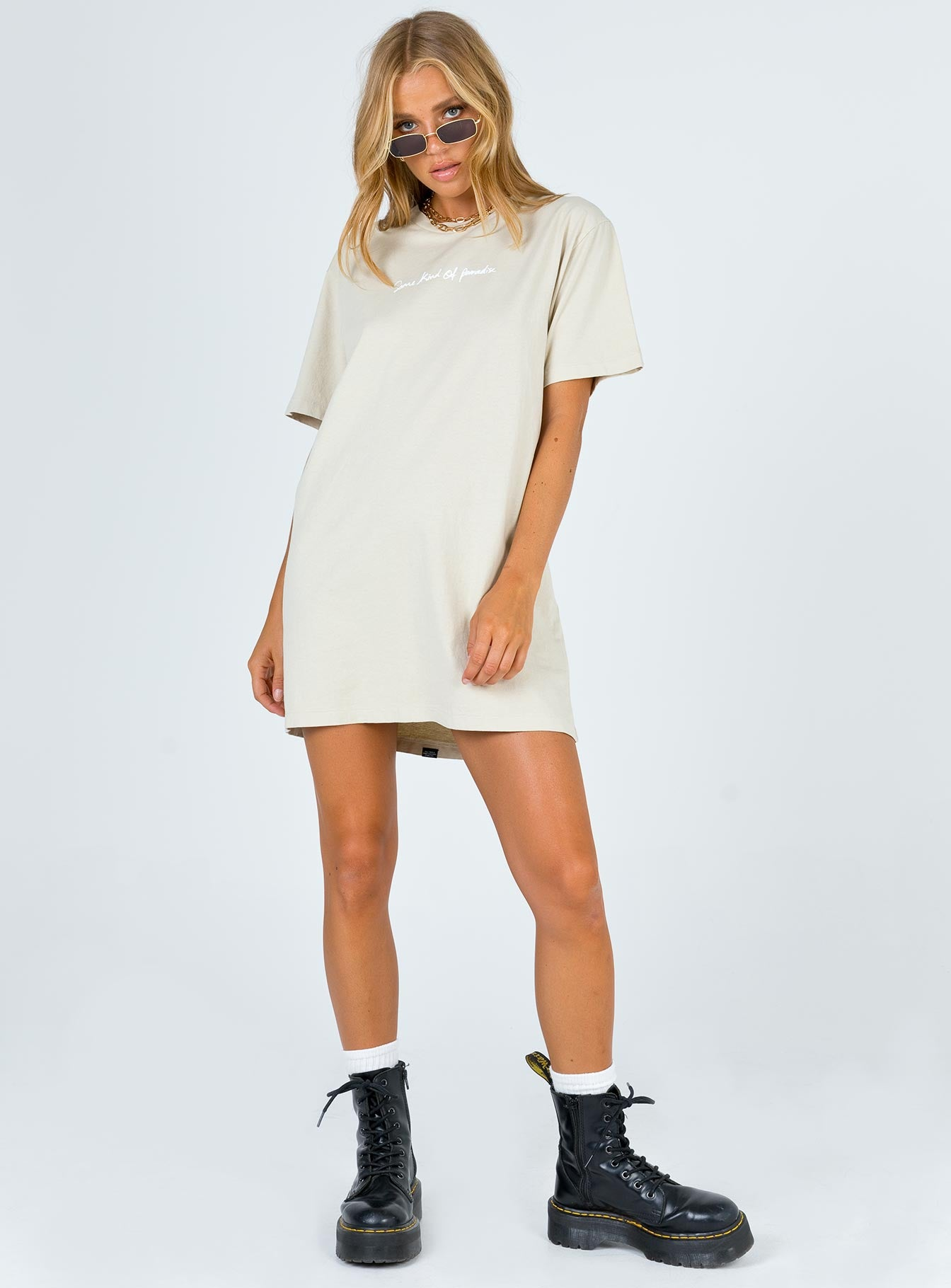 Thrills Traveller Merch Fit Tee Dress Peyote