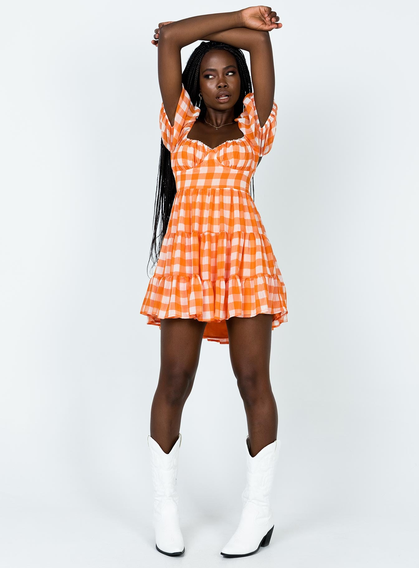 Danny Mini Dress Orange