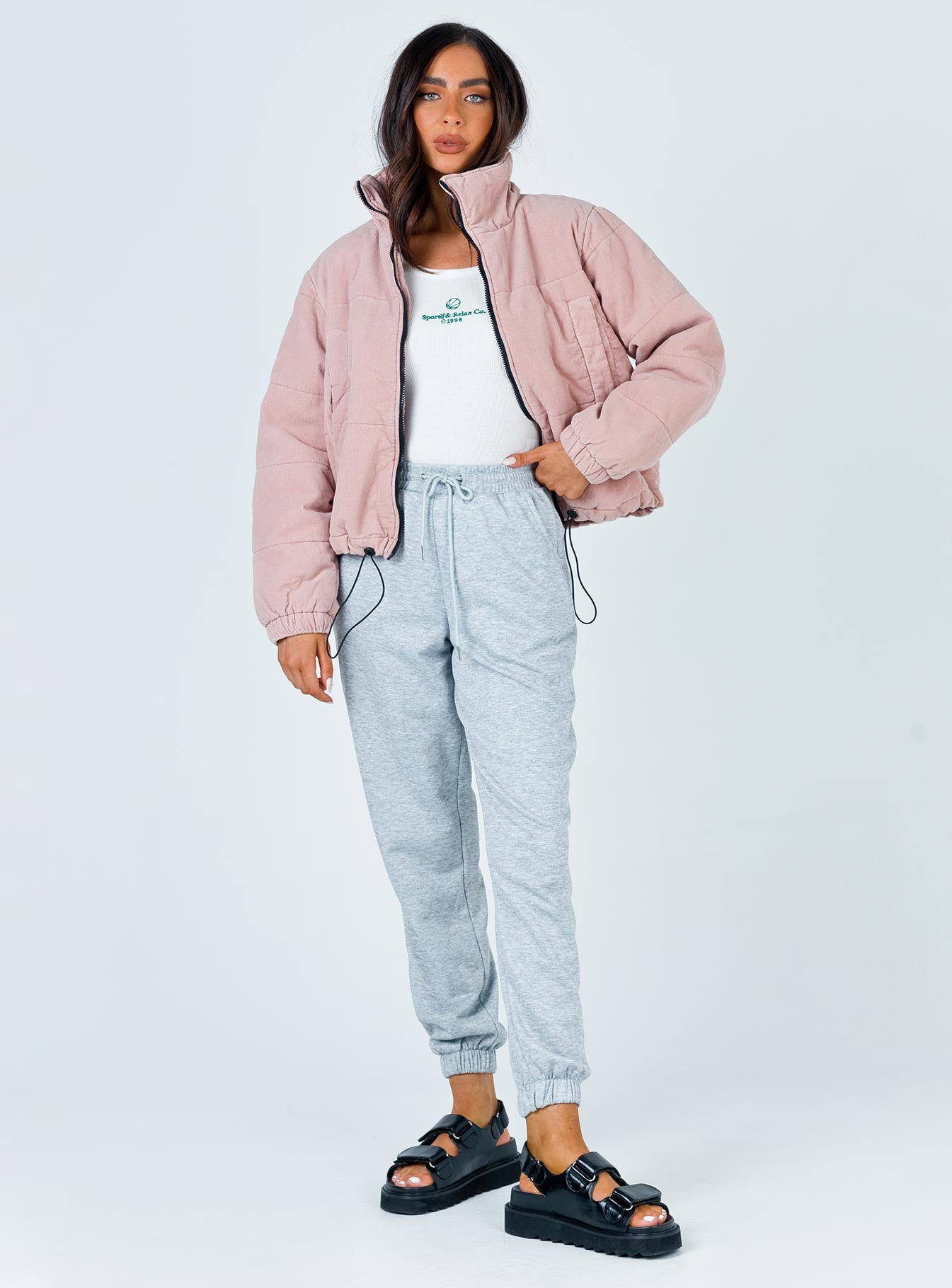 Polly Puffer Jacket Dusty Pink