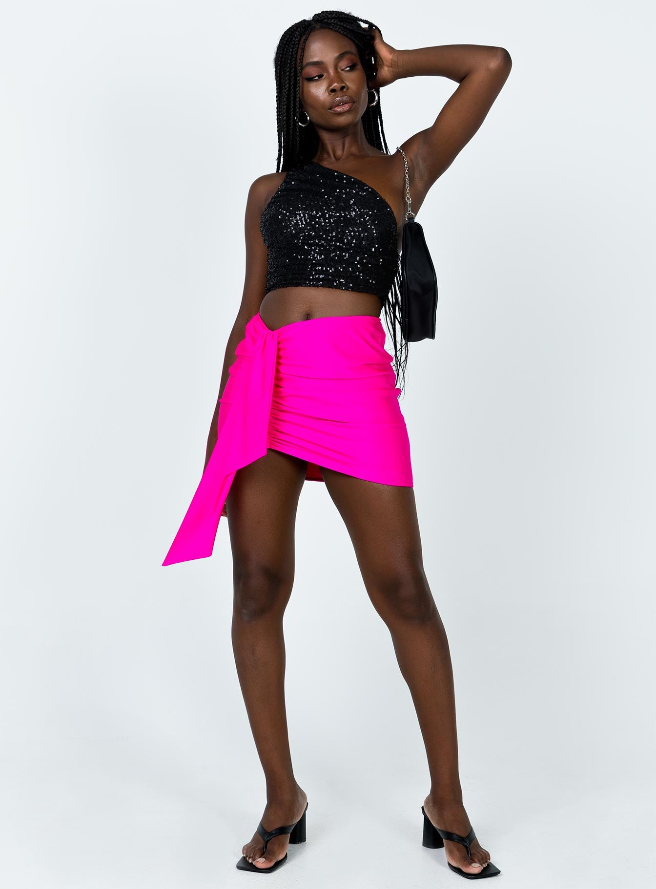 Diamonds in the Sky Mini Skirt Pink
