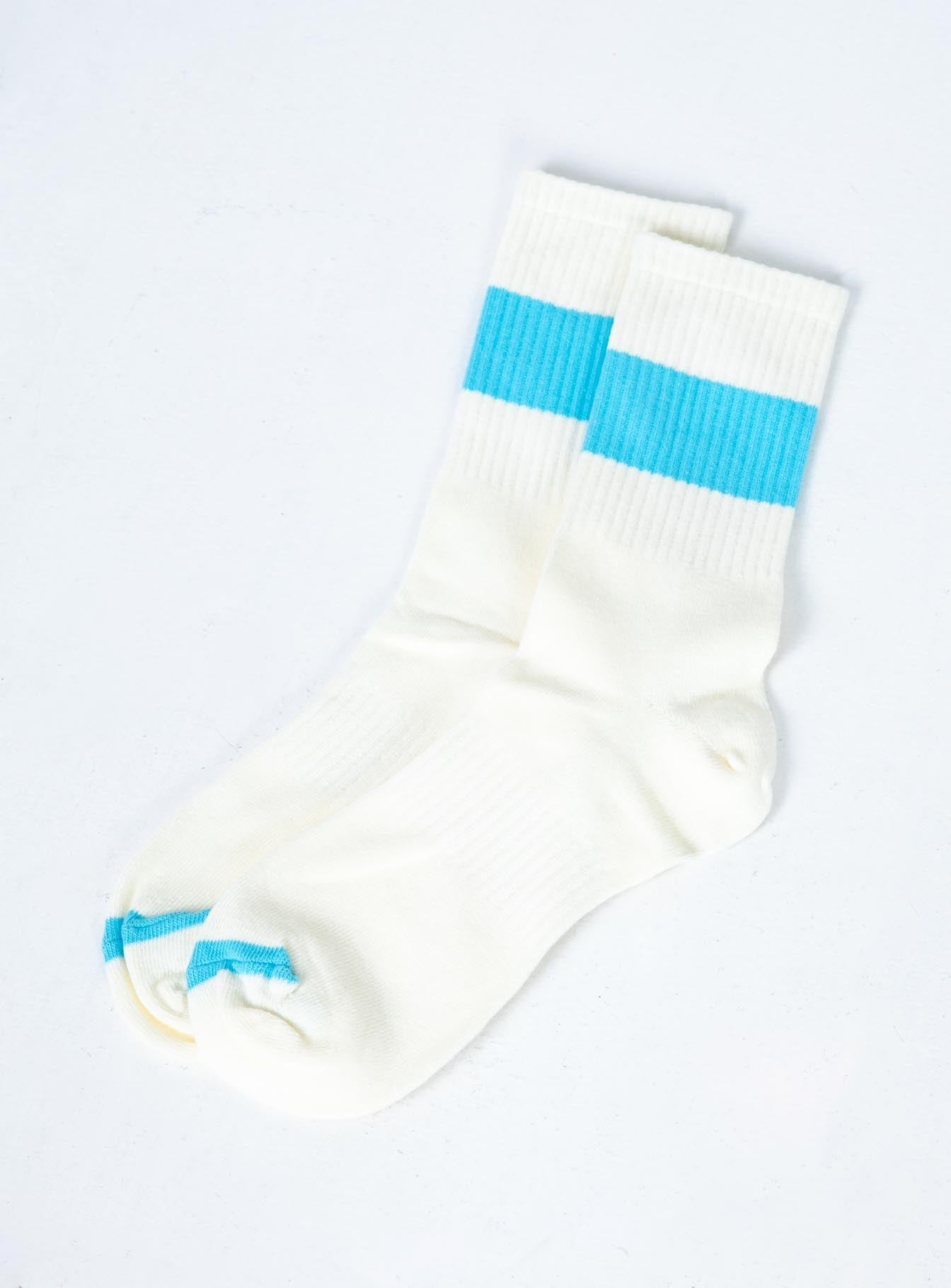 Tracey Track Socks White / Blue