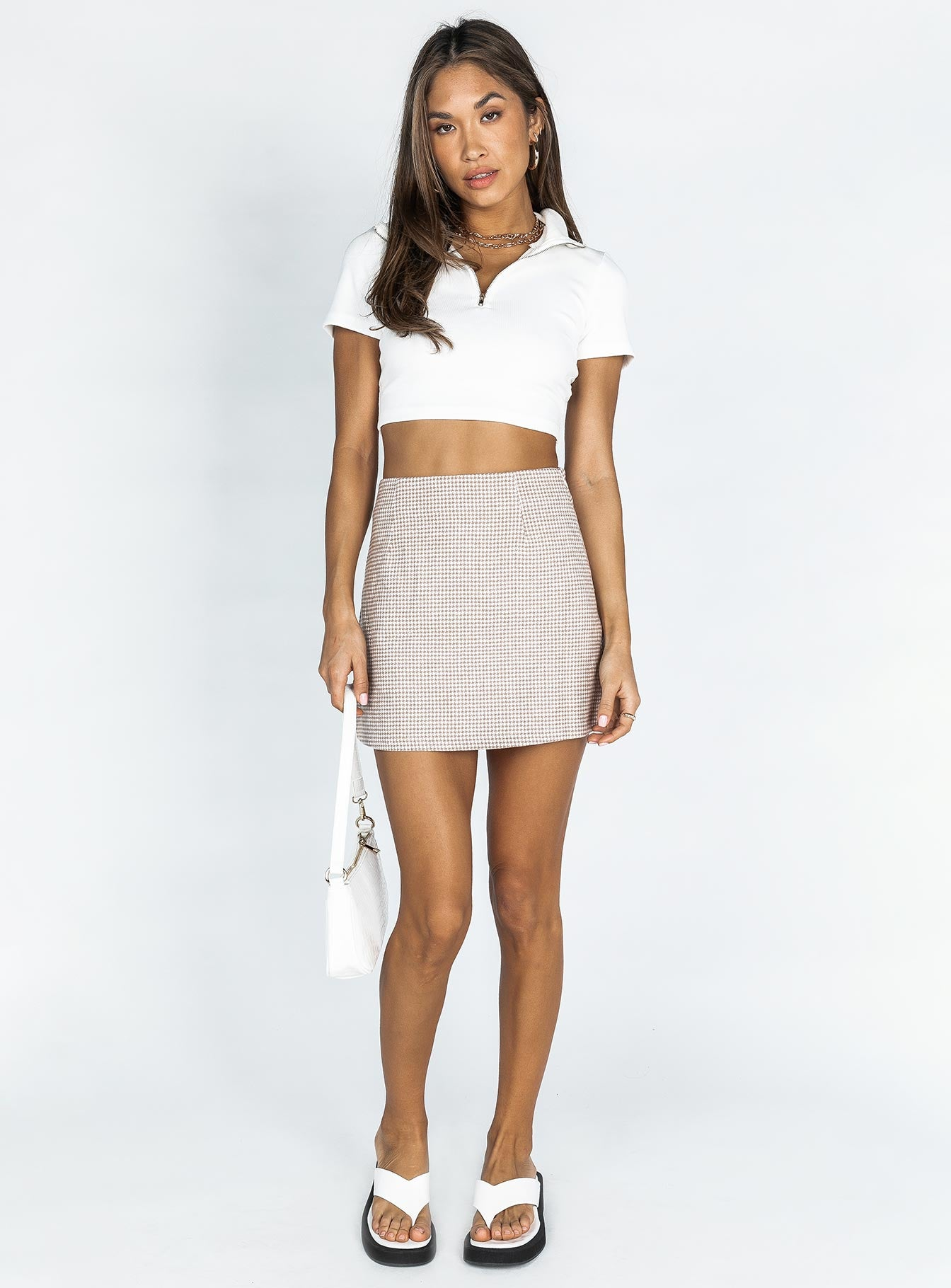 Mahala Mini Skirt Brown