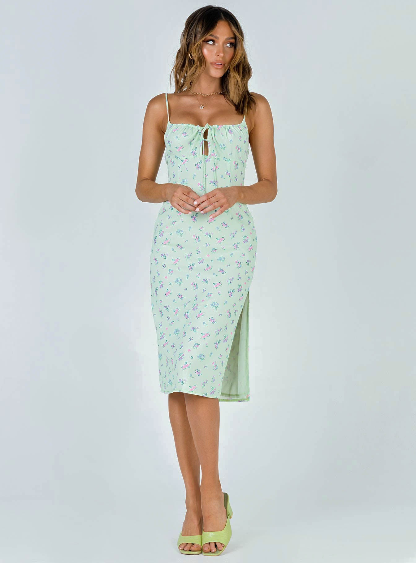 Eleanor Midi Dress Green