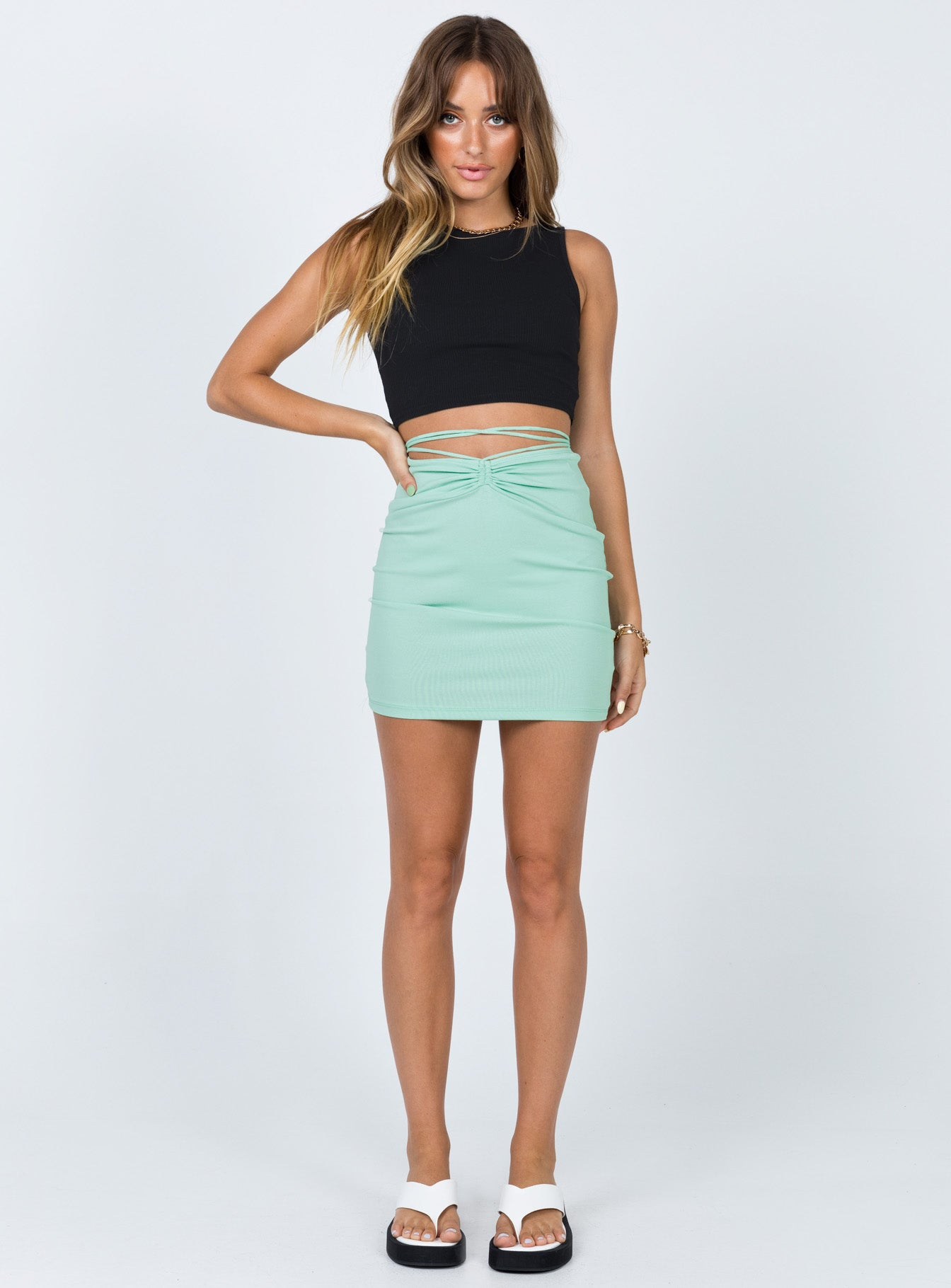 Dom Mini Skirt Green