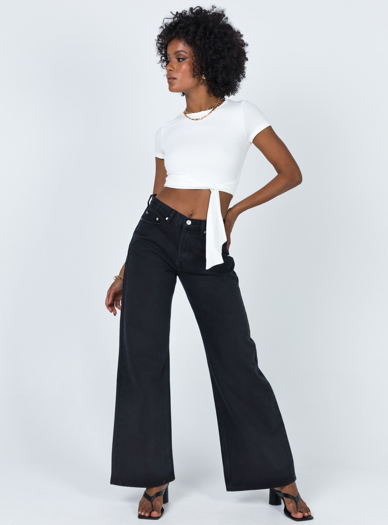 The Maple Flared Jeans Black