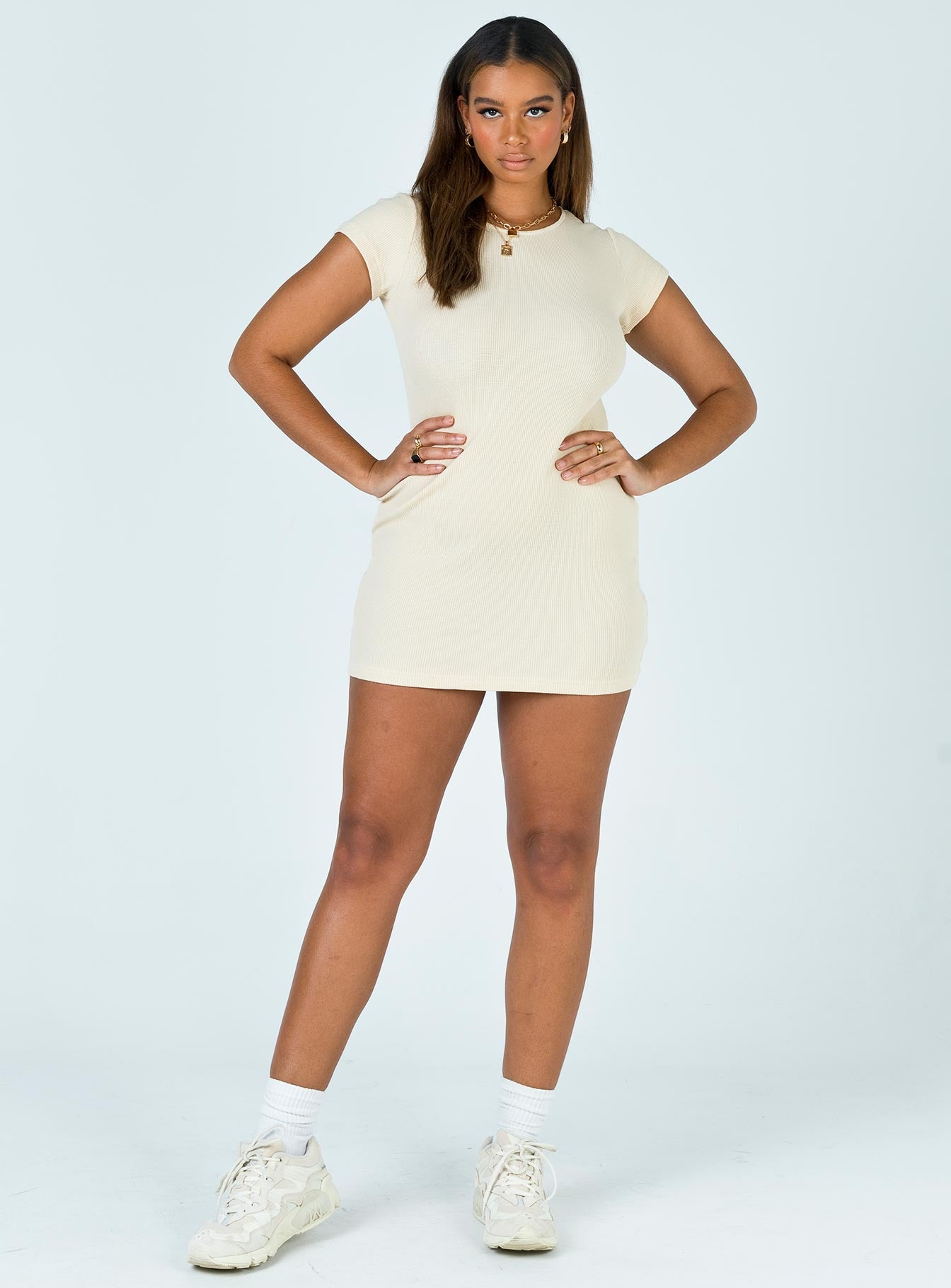 Sharmaine Mini Dress Beige