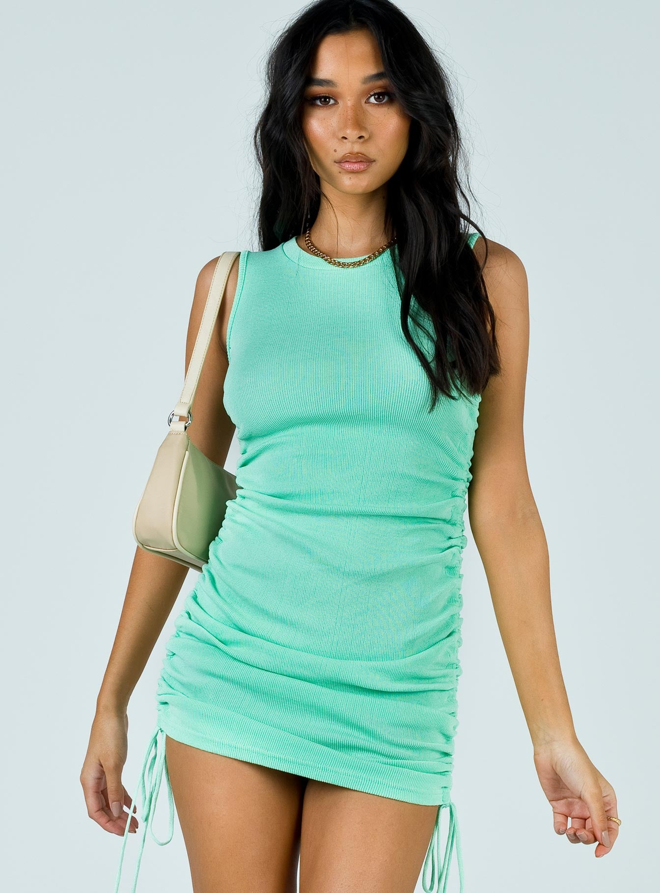 Military Minds Mini Dress Green