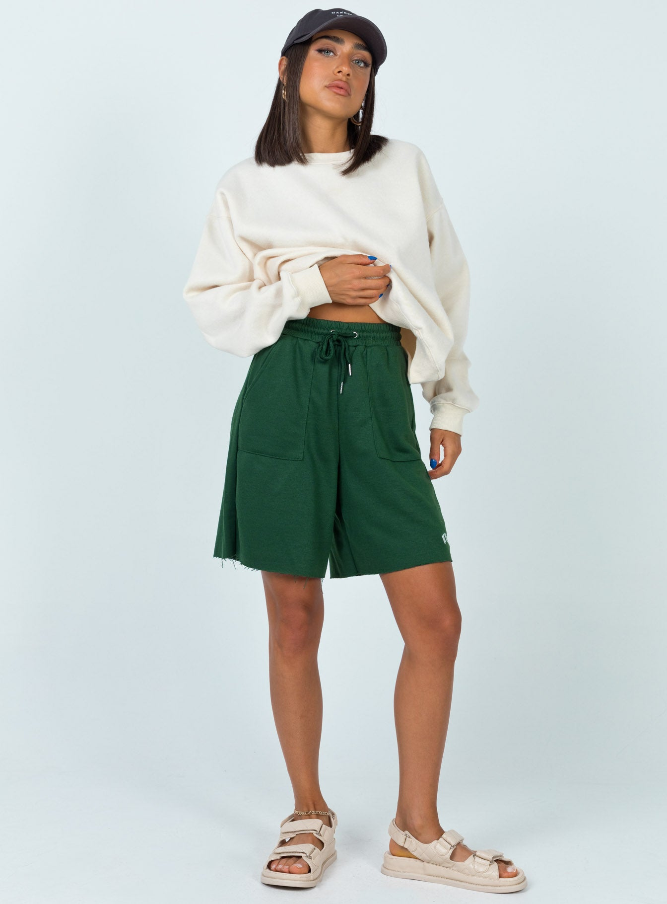 Nova Sweat Shorts Forest Green