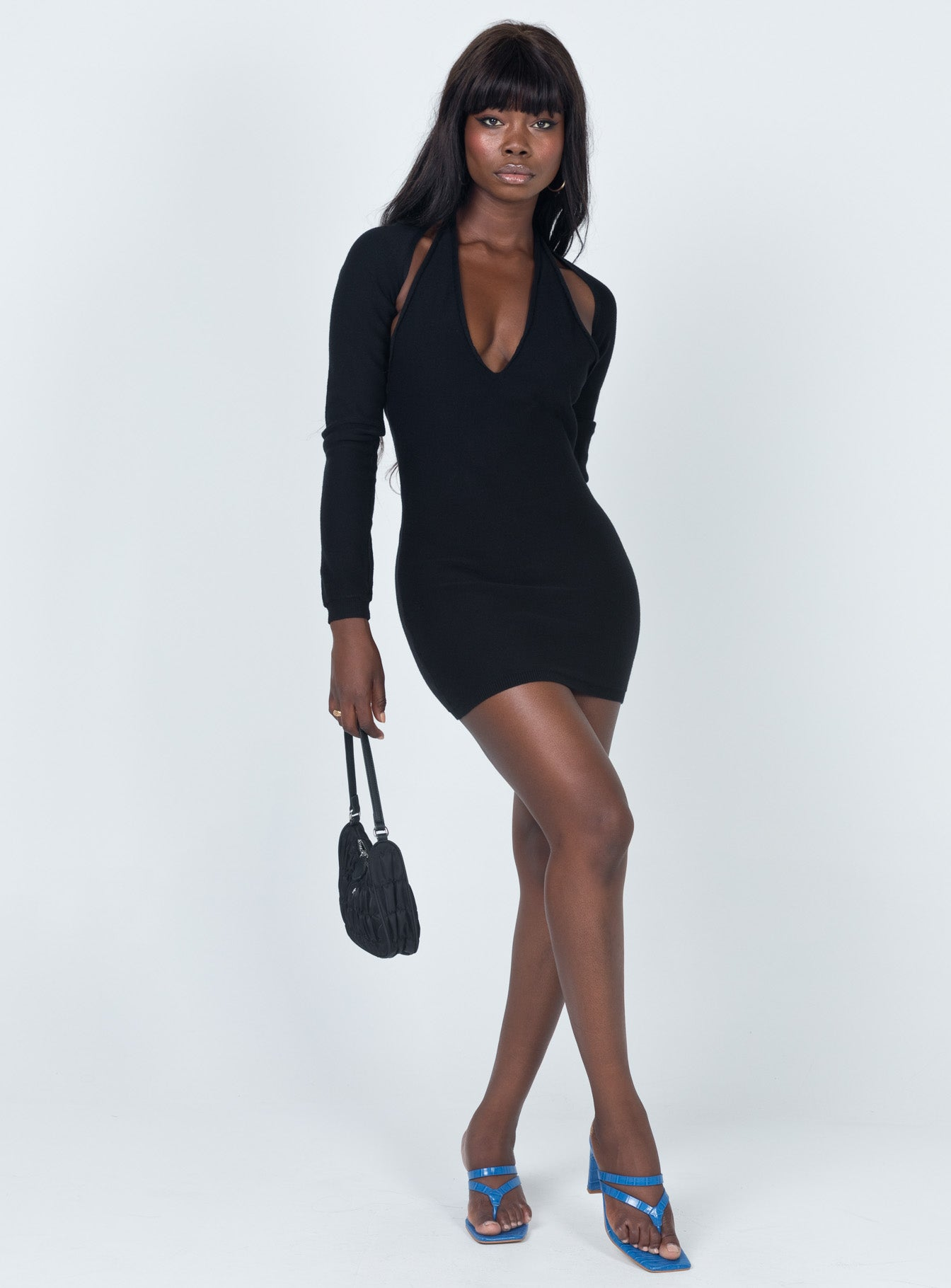 Heavenly Sent Mini Dress Black