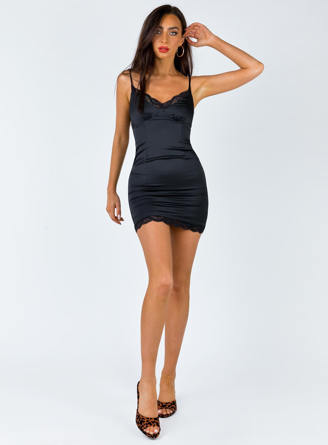 Maple Mae Mini Dress Black