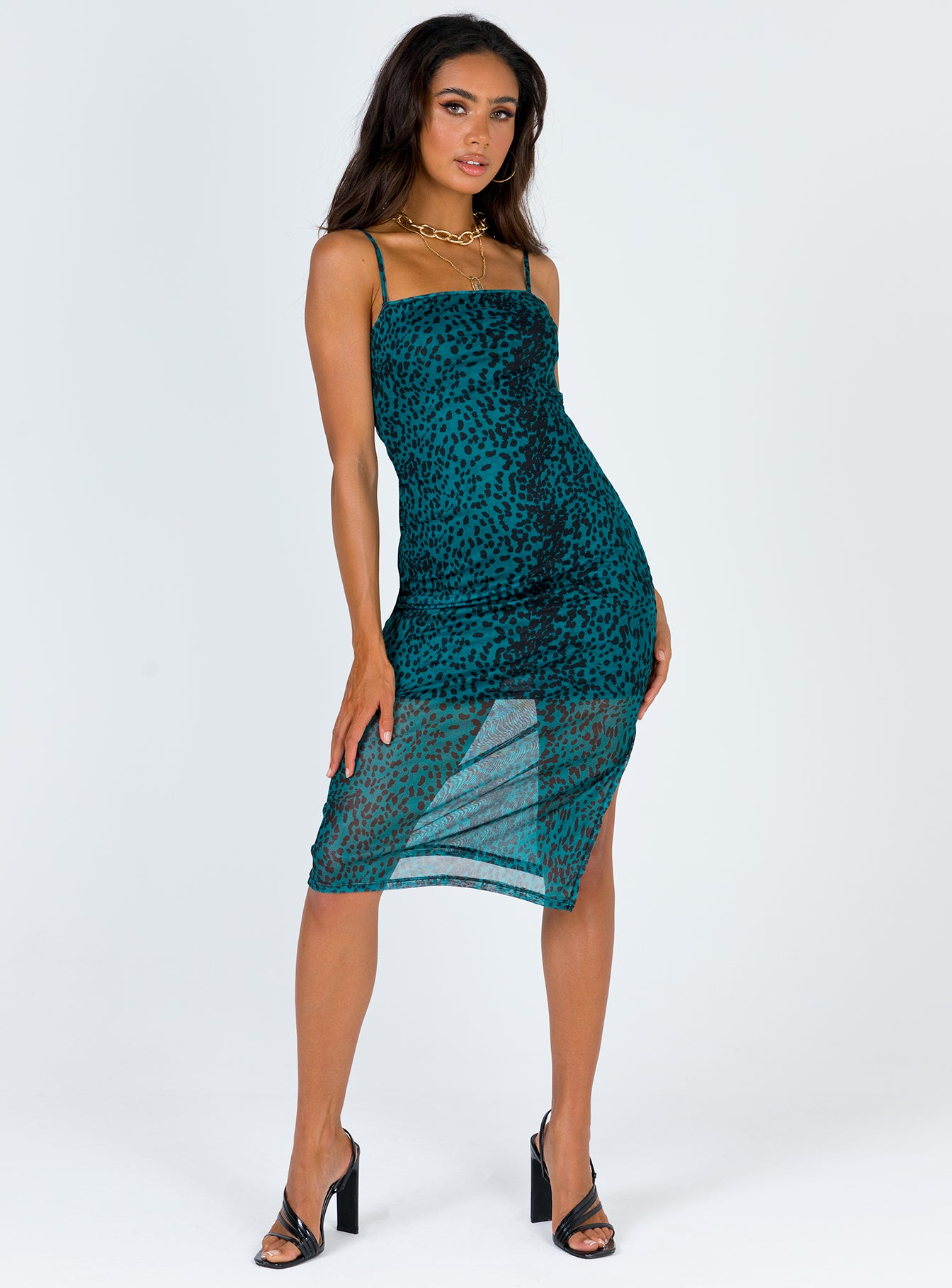 TWIIN Sprint Mesh Slip Dress