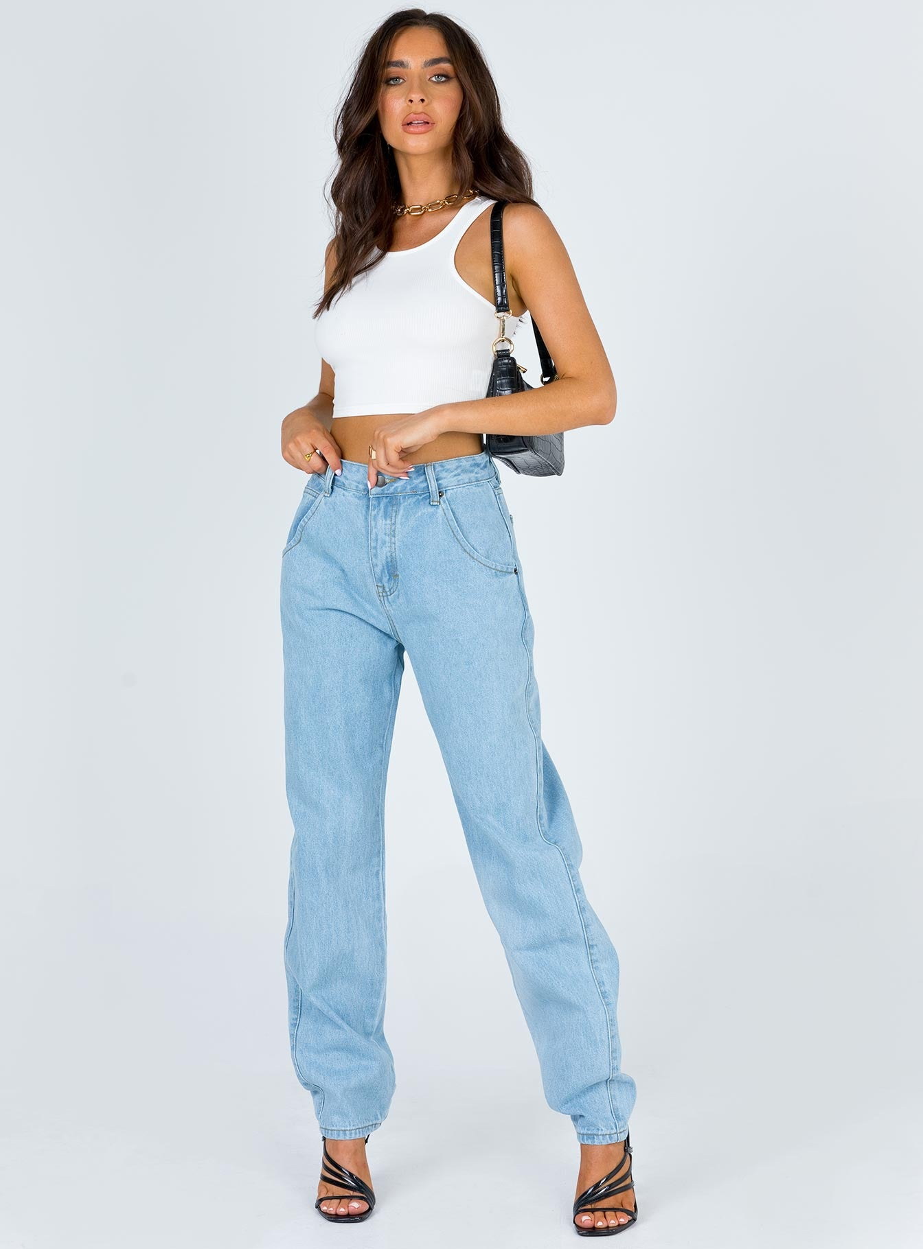 Harriett Dad Jean Light Wash Denim