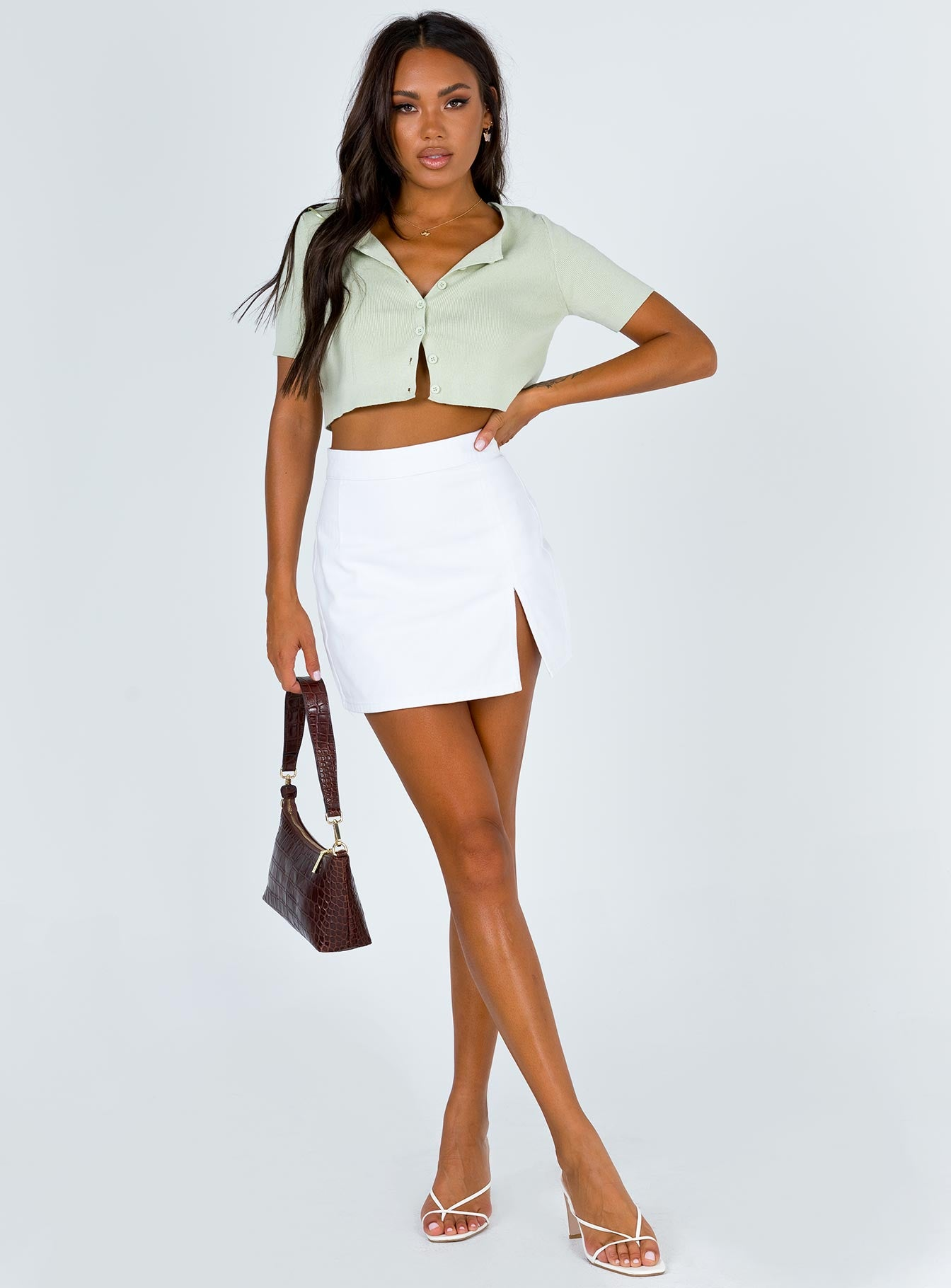 The Lola Mini Skirt White