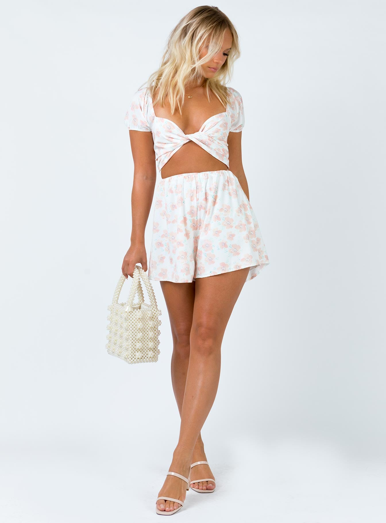 The Egan Playsuit White Floral