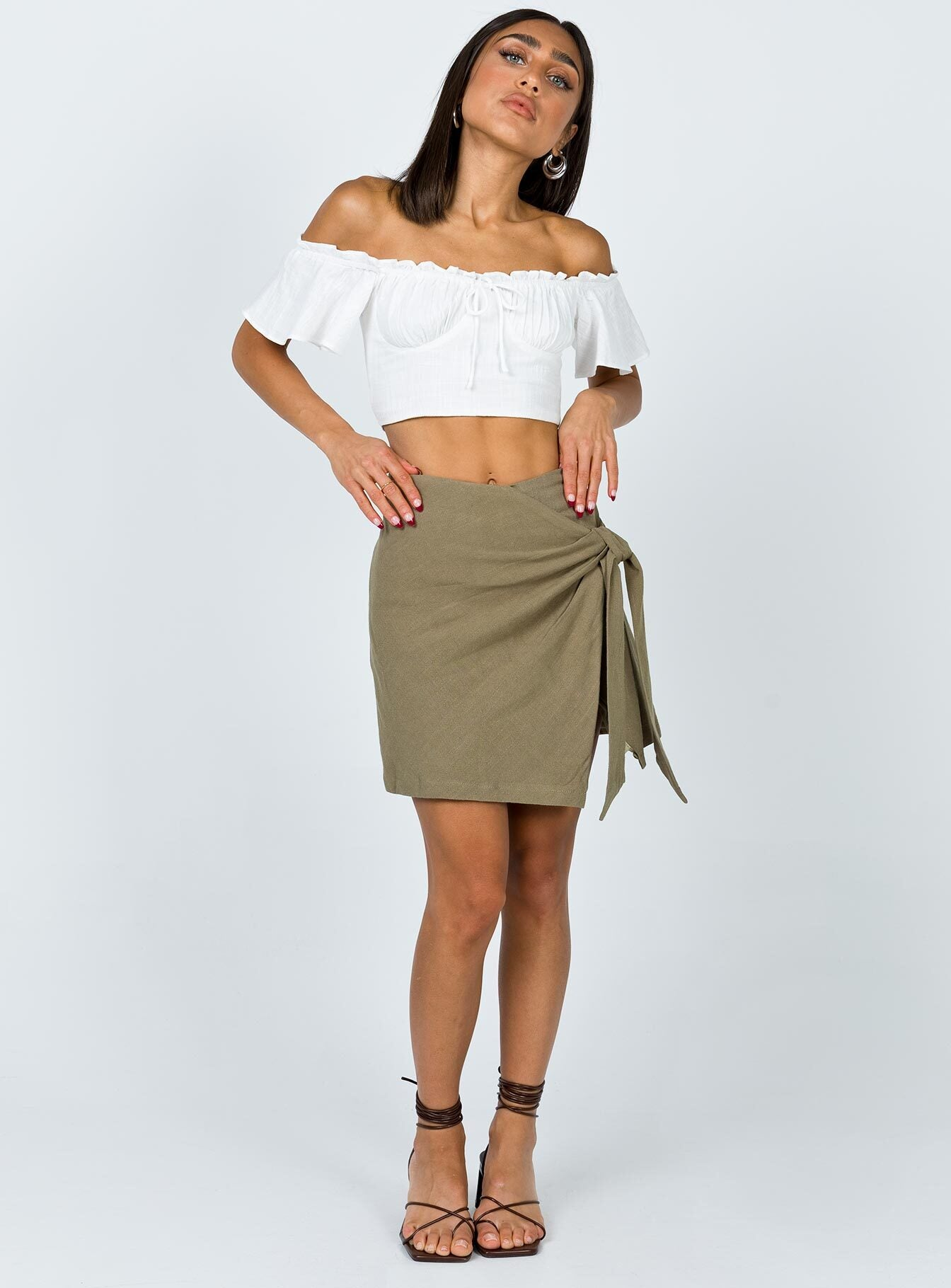 Tommy Mini Skirt Green