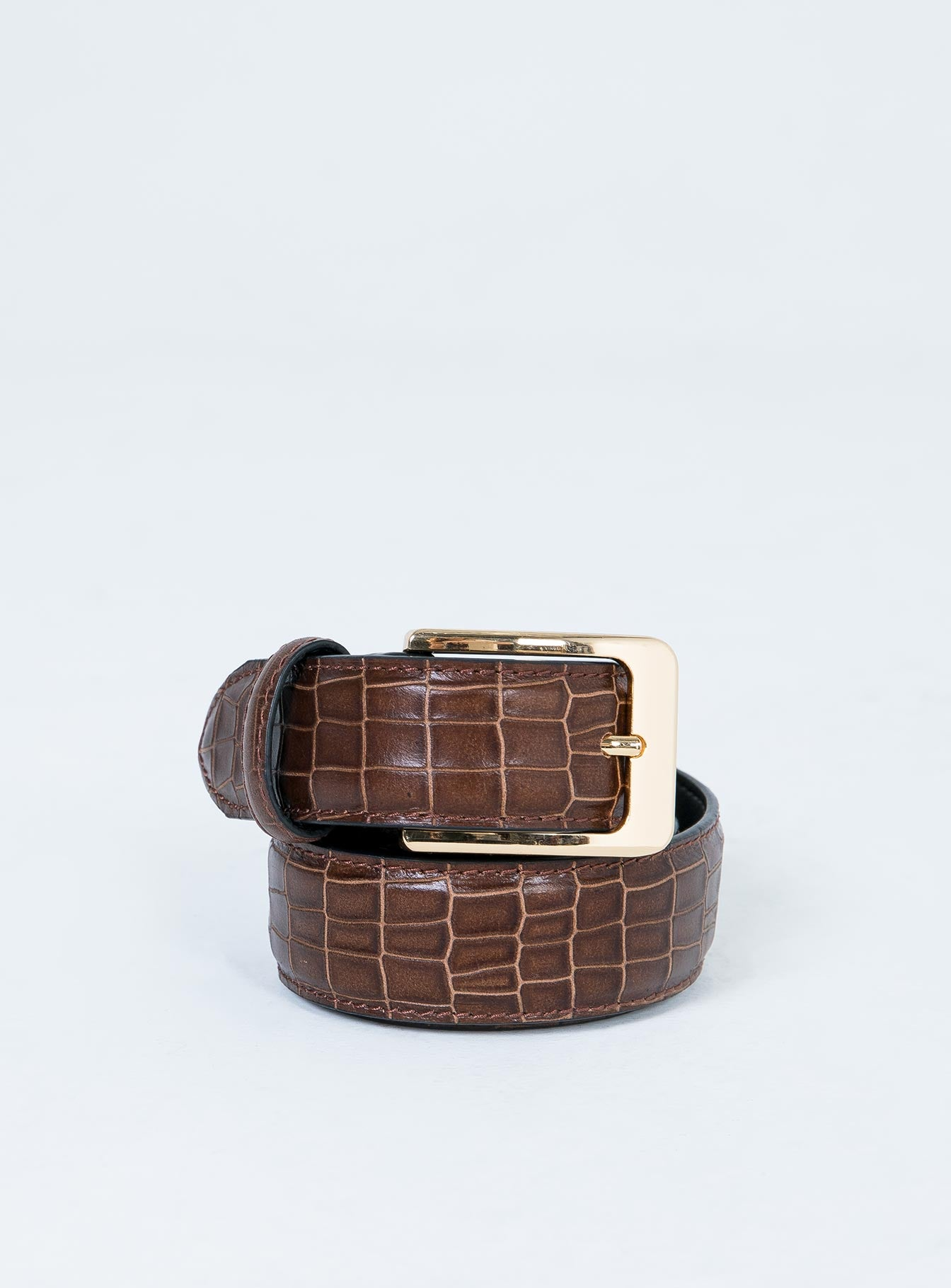 Nakedvice The Mia Belt Brown Croc