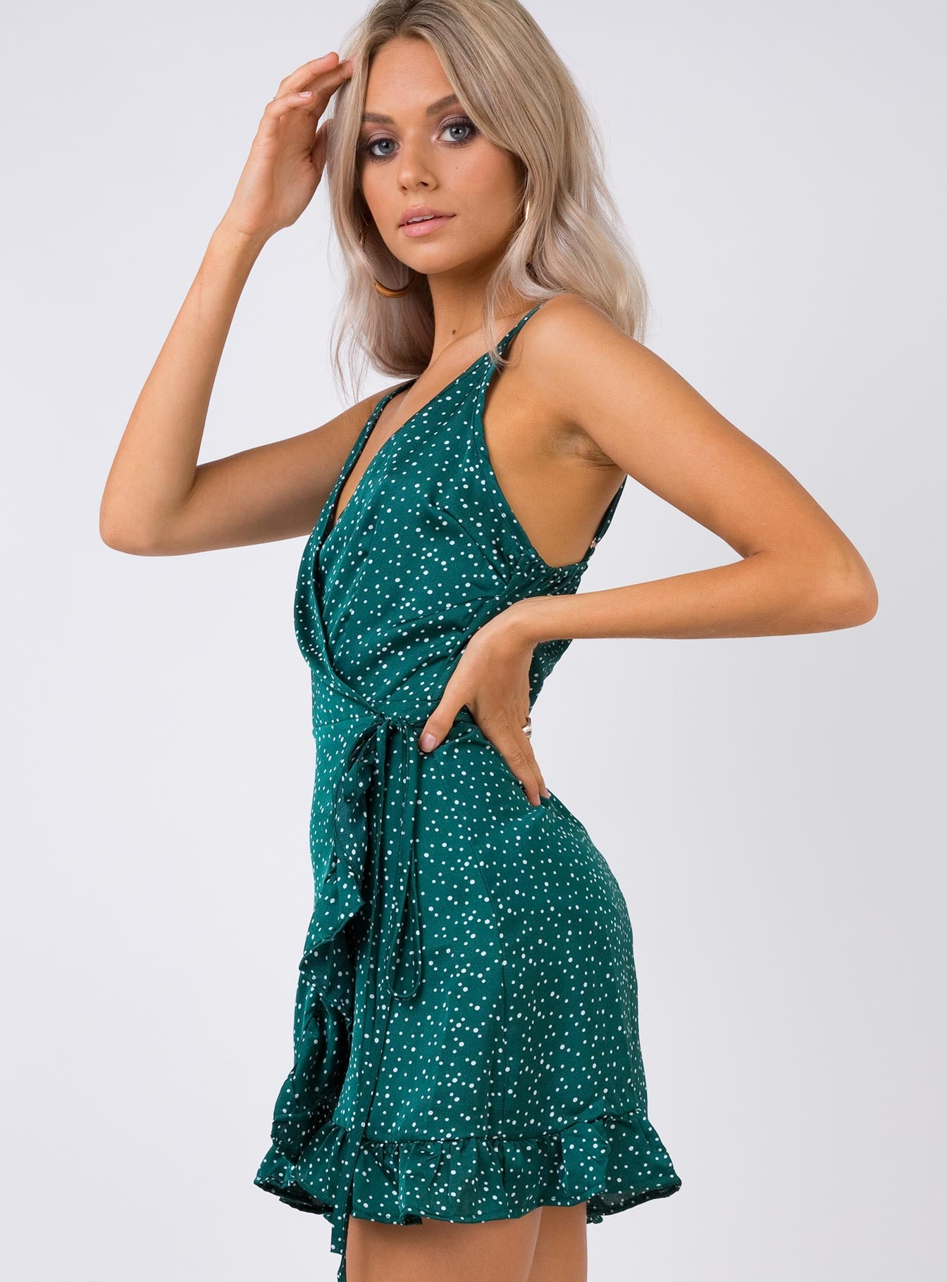 Her Jewel Mini Dress Green