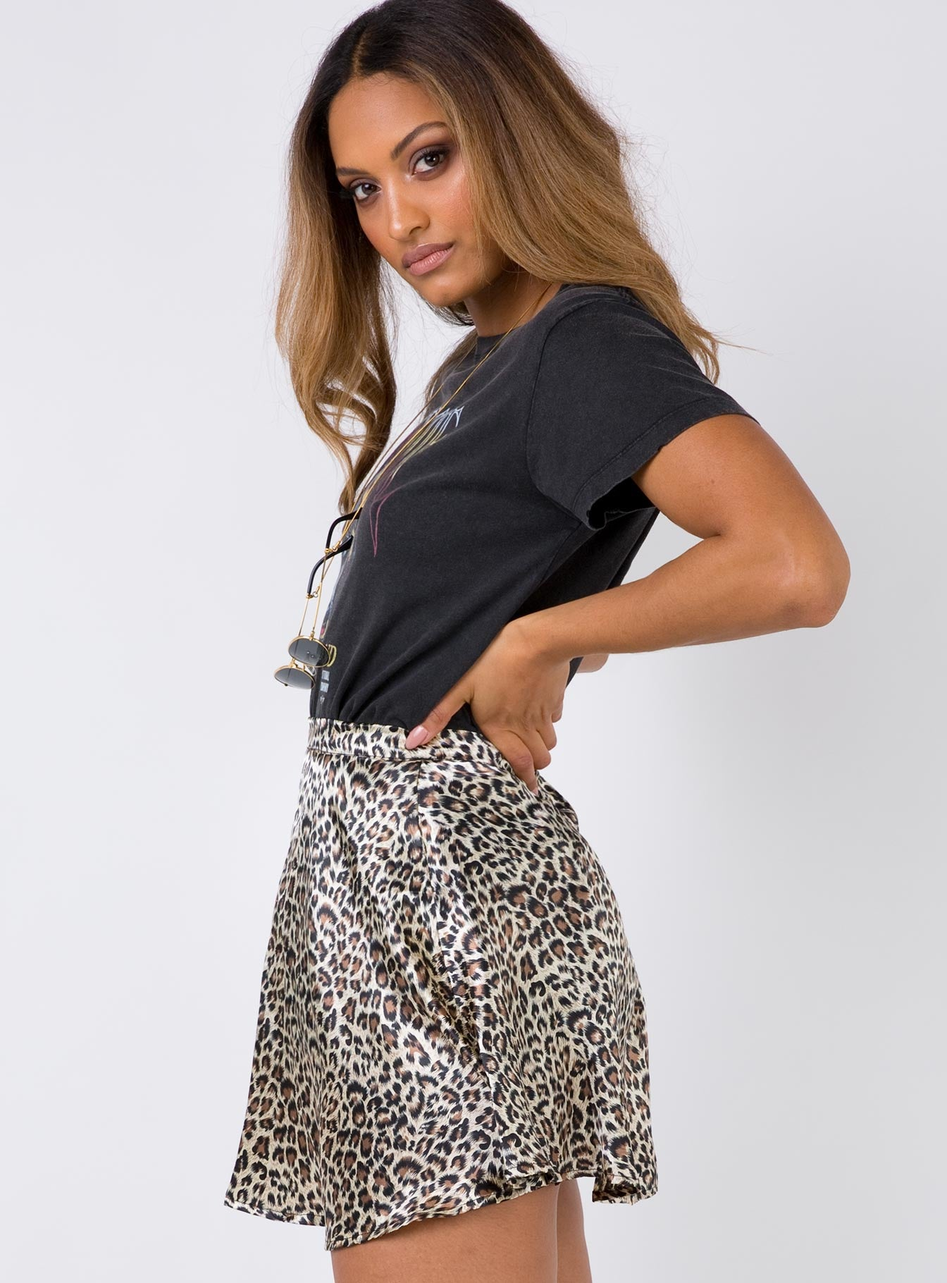 Delvonte Mini Skirt Leopard
