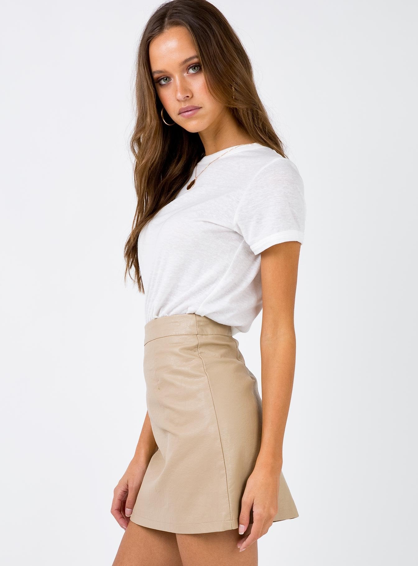 The Zuko Mini Skirt Beige