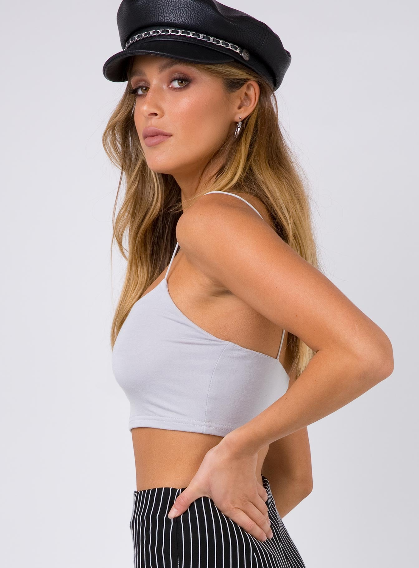 Cloud Cover Crop Top White