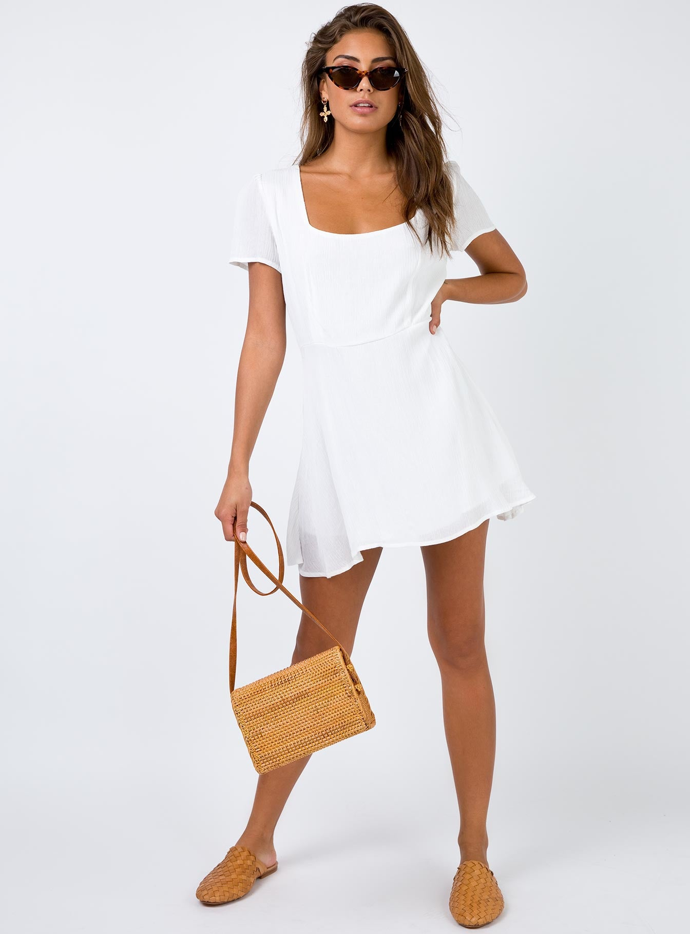 Adorn You Mini Dress White