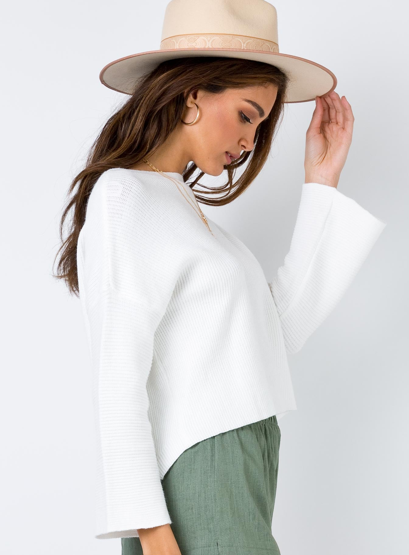 Laneway Long Sleeve Top Cream