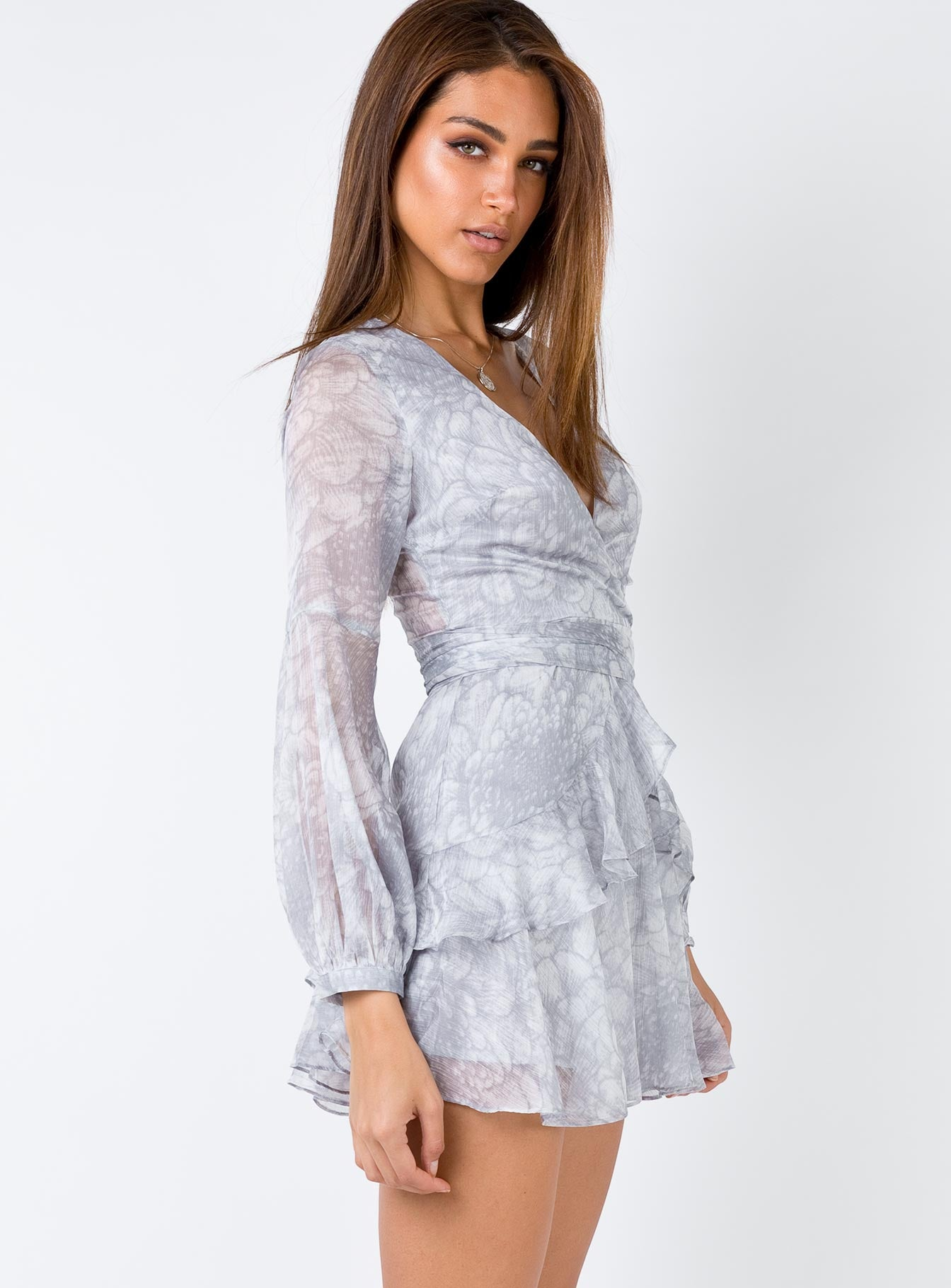 Emlina Mini Dress Grey