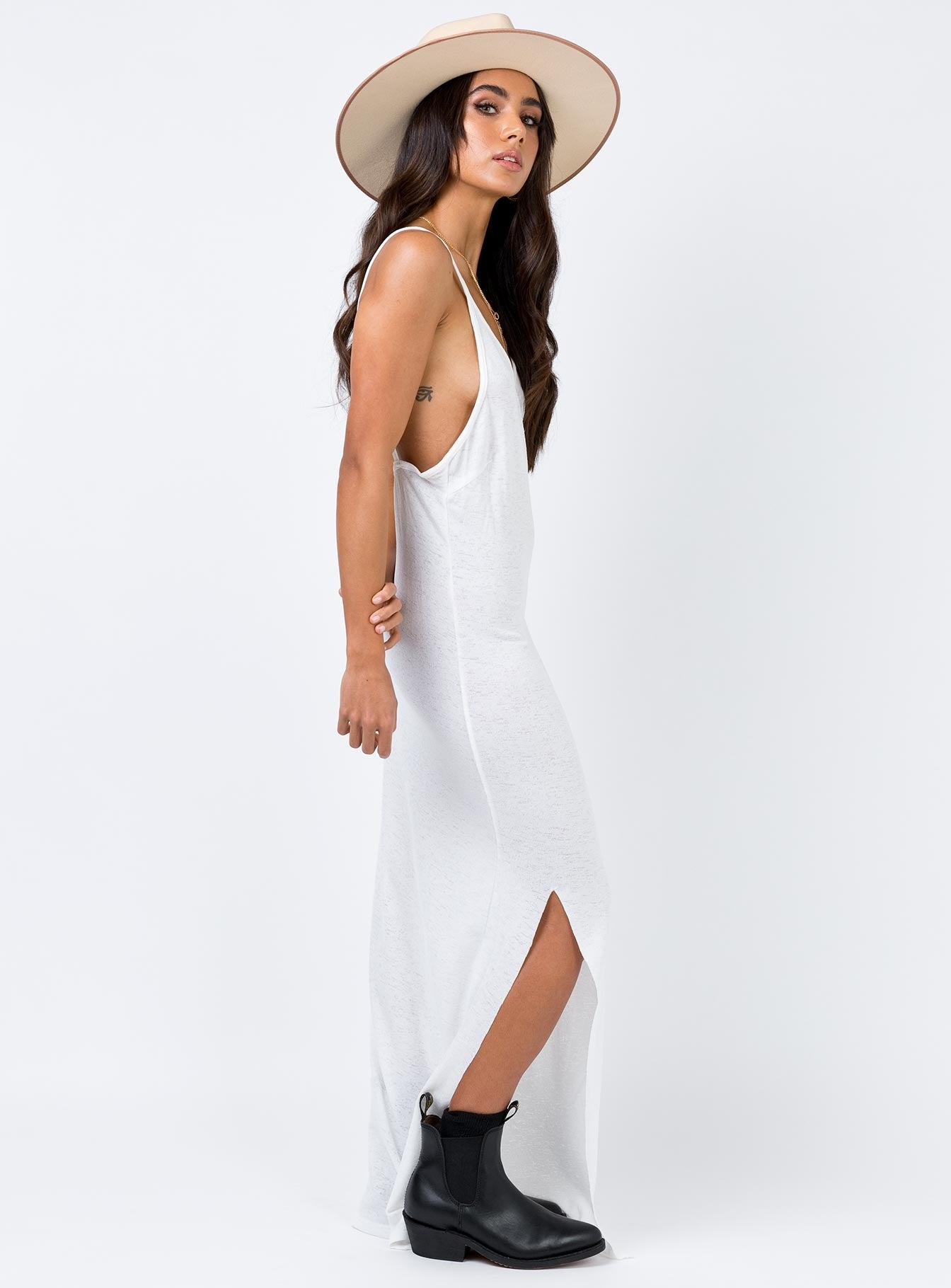 The Elana Maxi Dress White