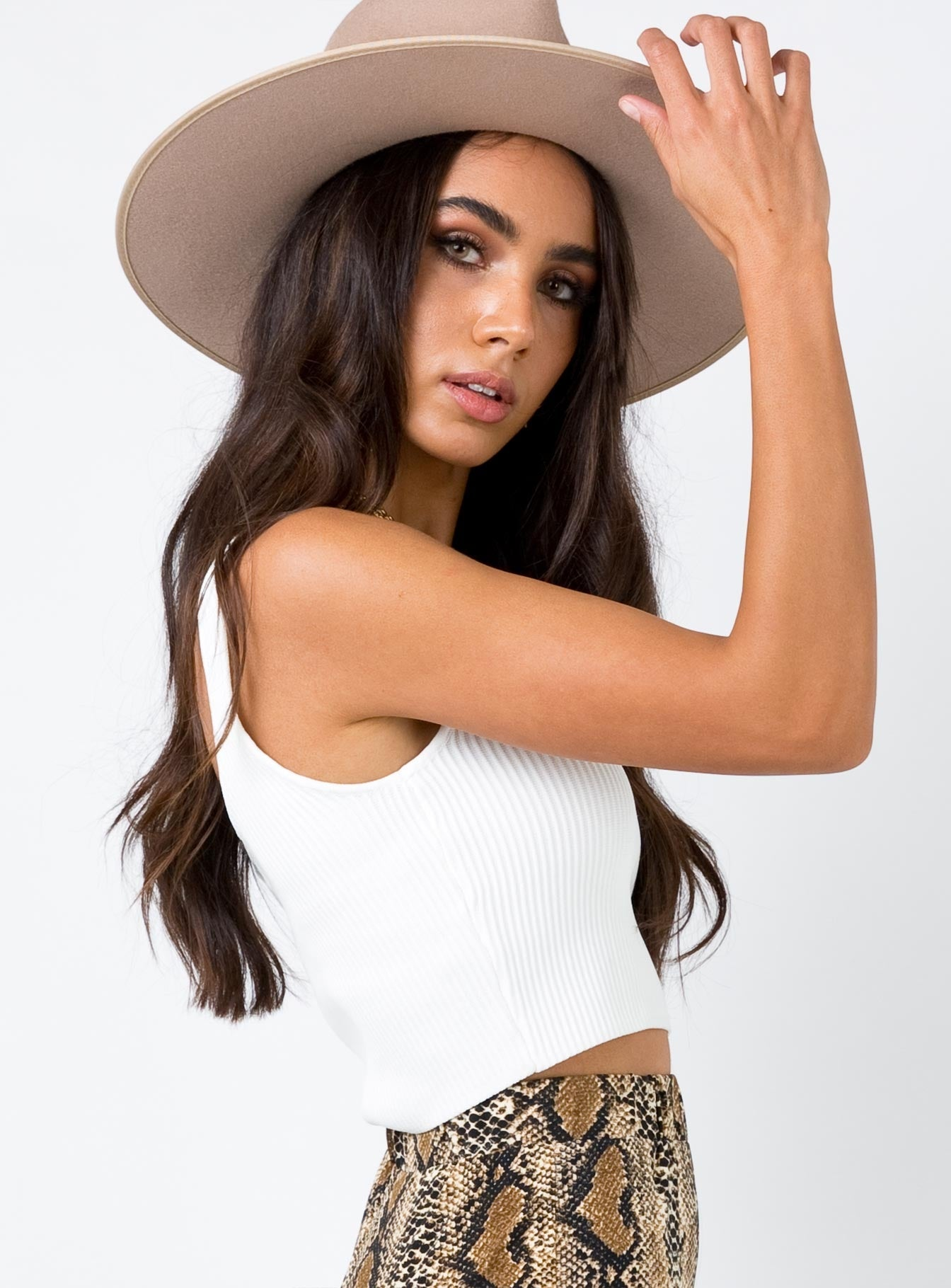 Amazonite Crop Top White