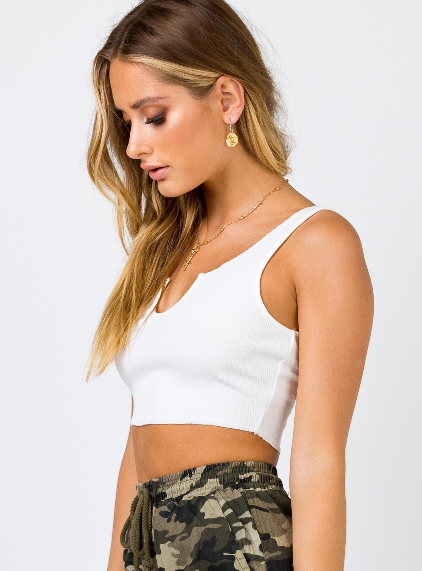The Liaison Crop Top White
