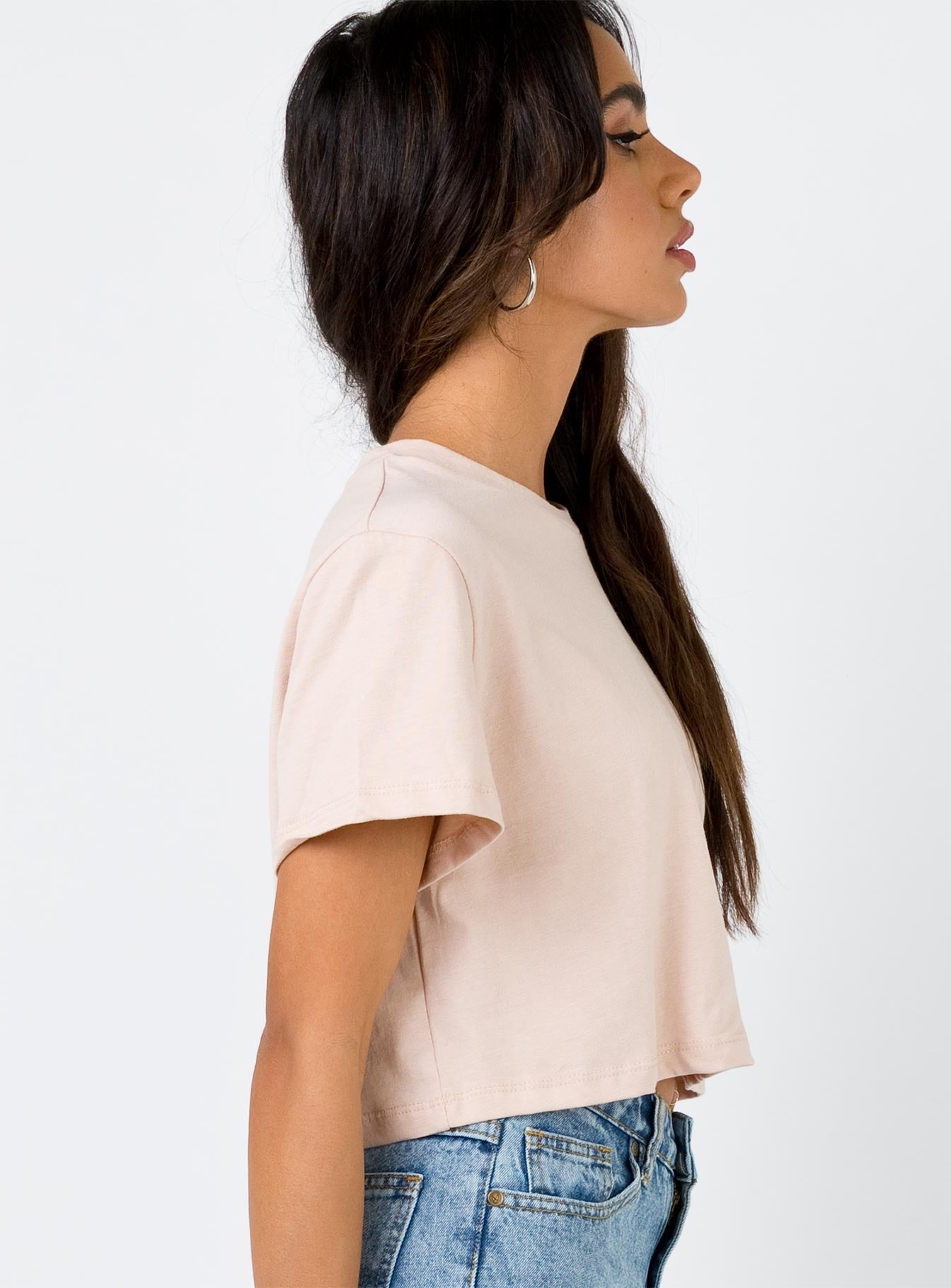 Ulterior Motive Cropped Tee Dusty Pink