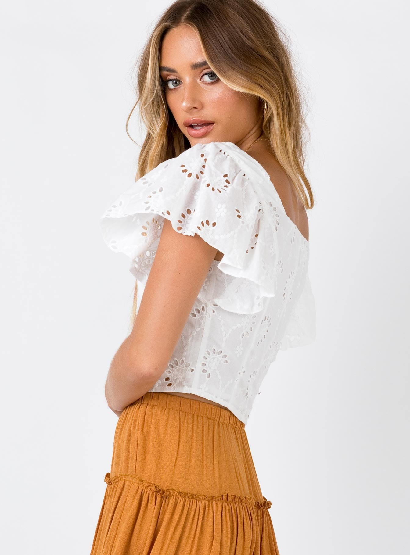 The Malo Crop Top White