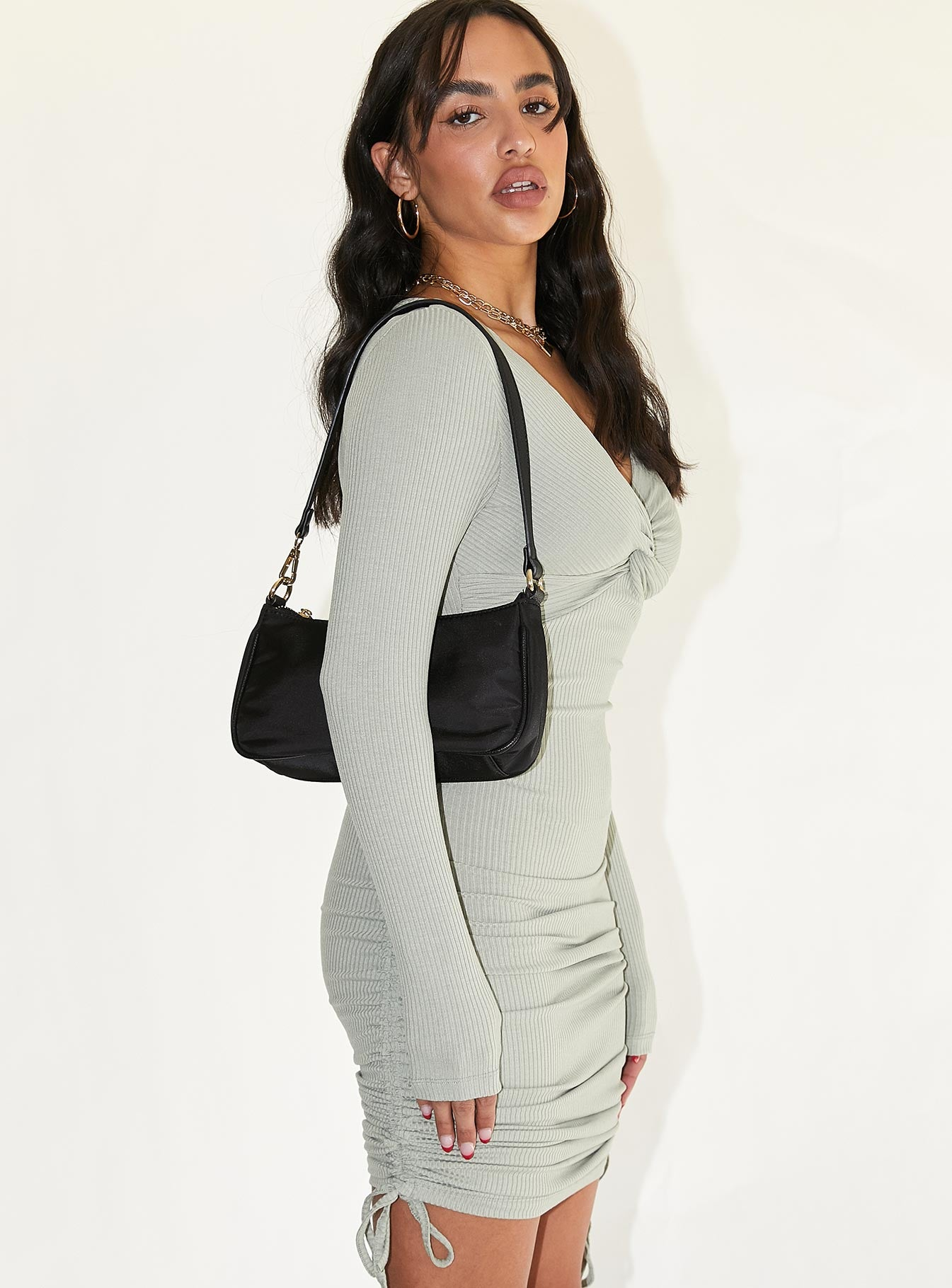 Gina Mini Dress Khaki