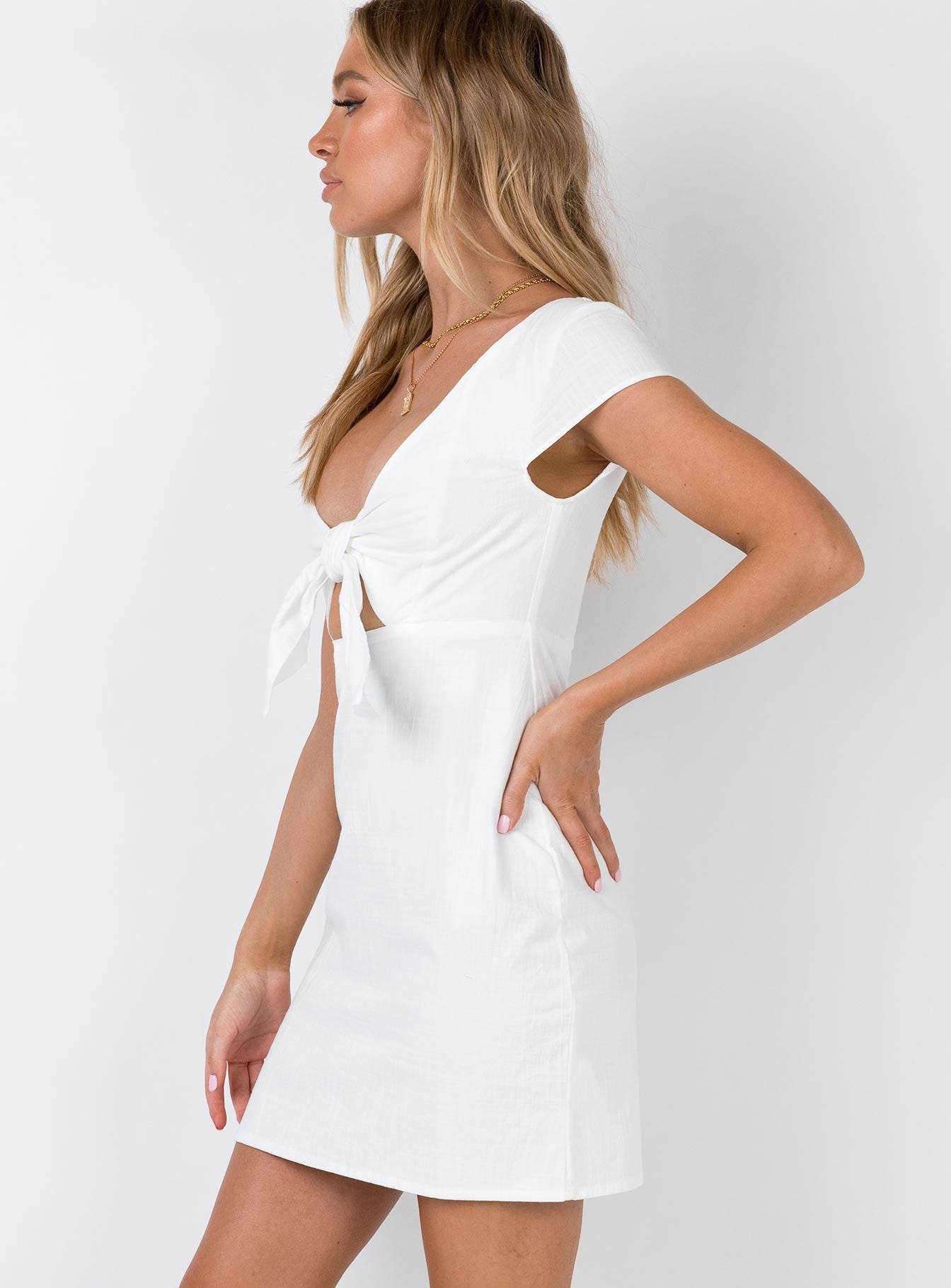 Minkpink Amore Sweetheart Dress White
