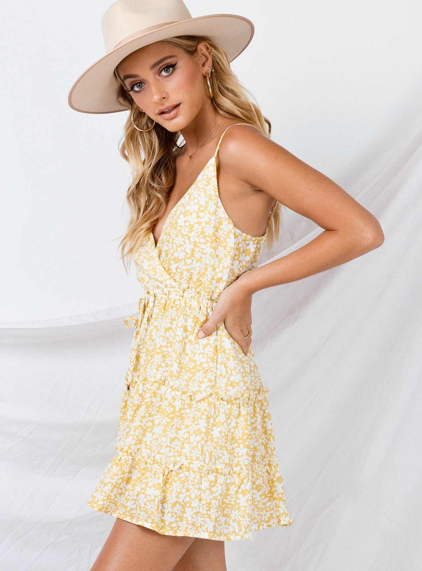 Alleste Mini Dress Yellow