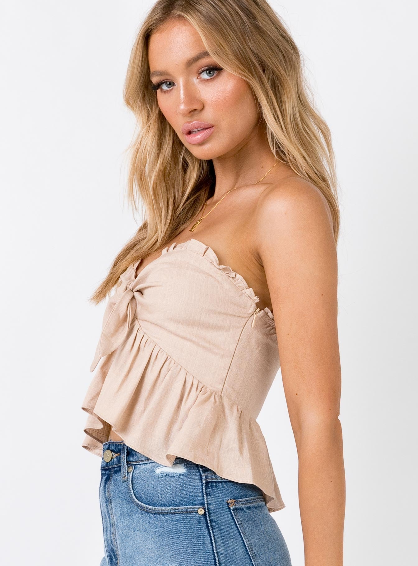 The Kaiya Top Beige