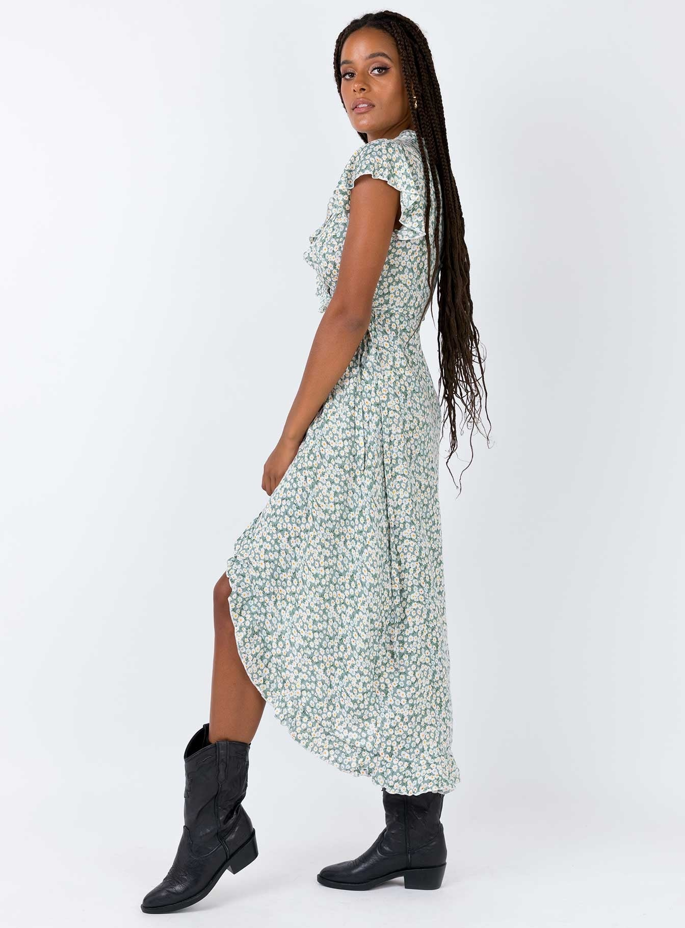 Try Your Luck Midi Dress Green