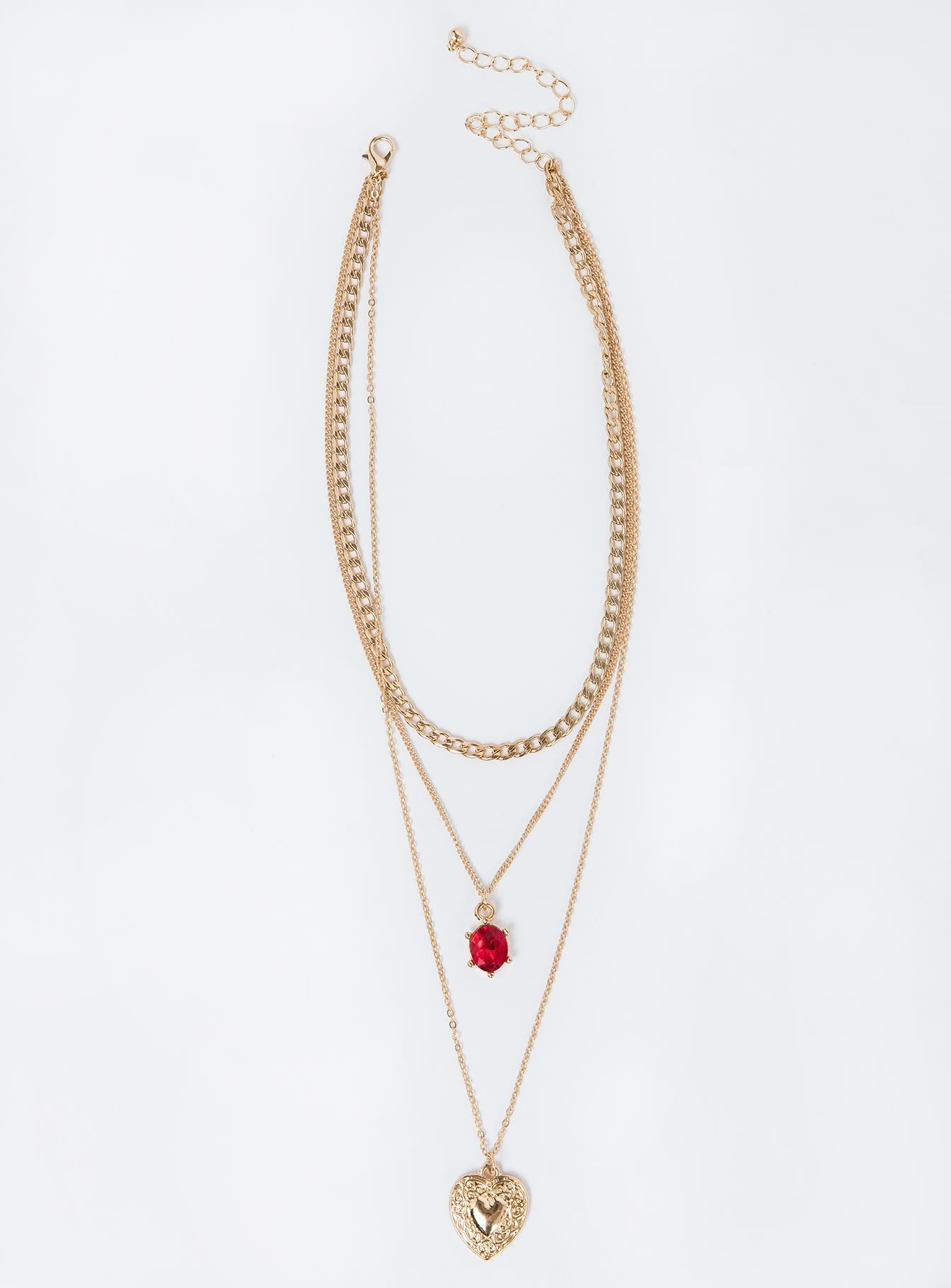 Her Heart Layered Necklace Gold