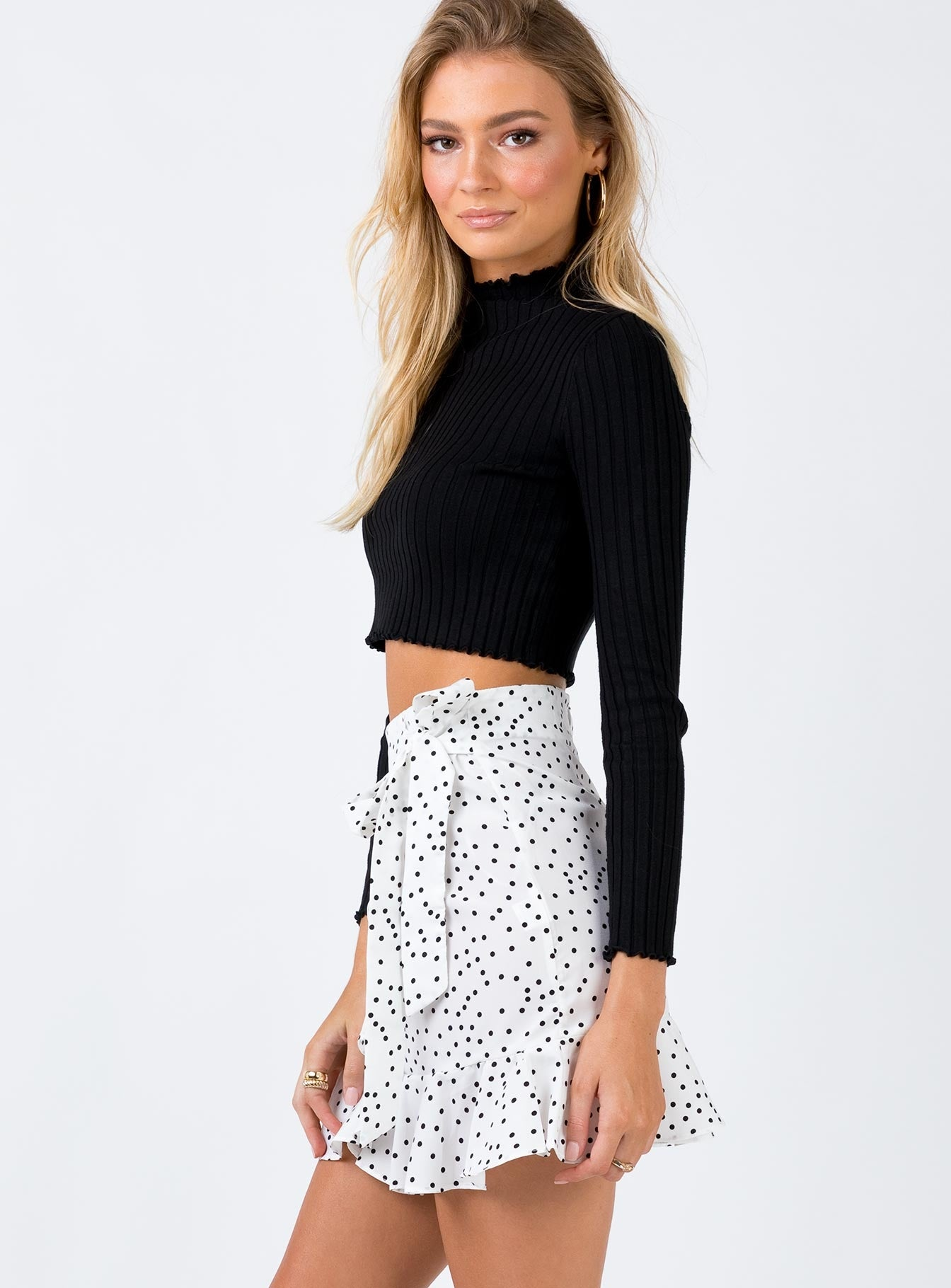 Kiana Mini Skirt White