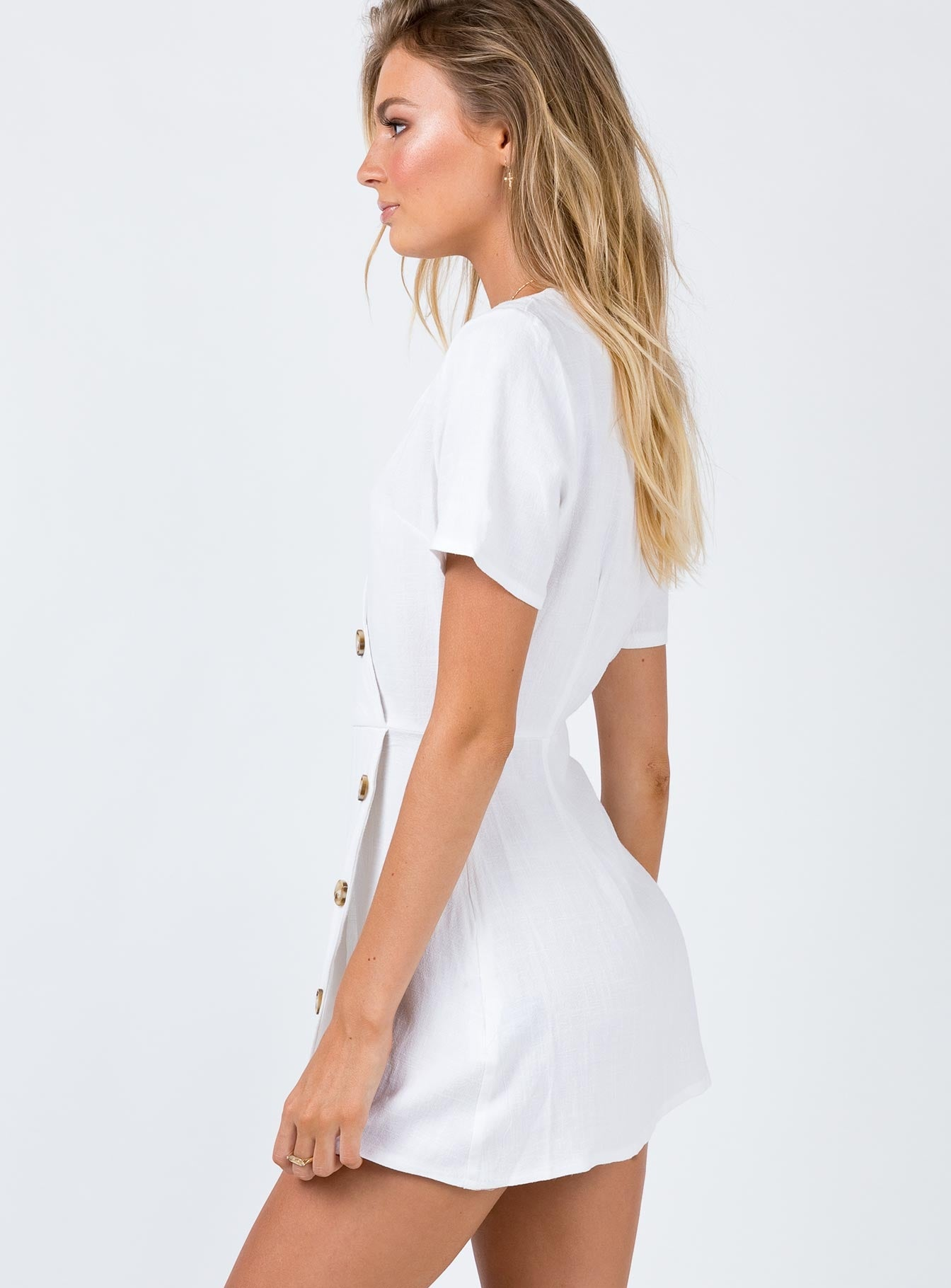 The Laze Mini Dress White