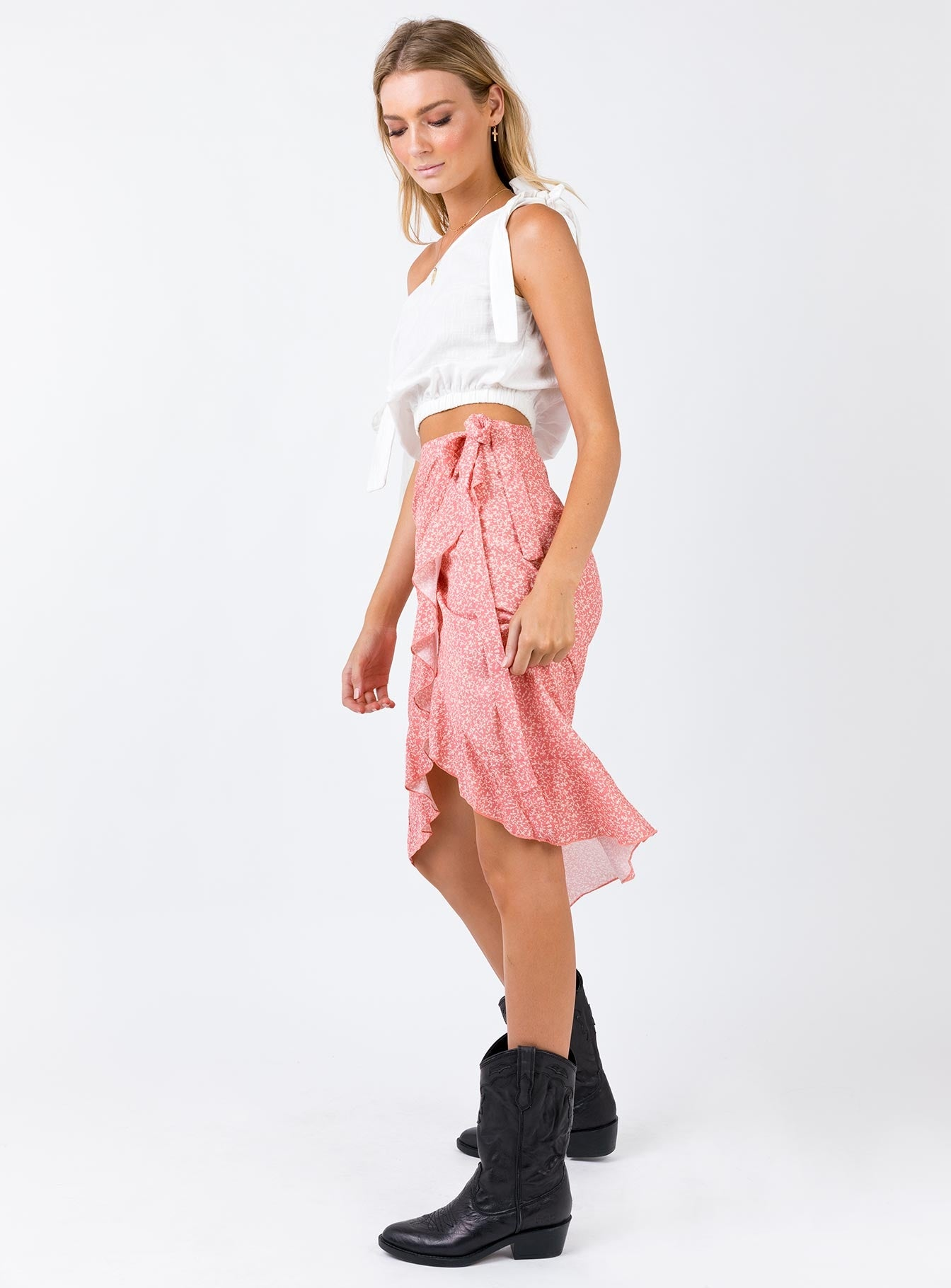 The Adrian Wrap Skirt  Apricot