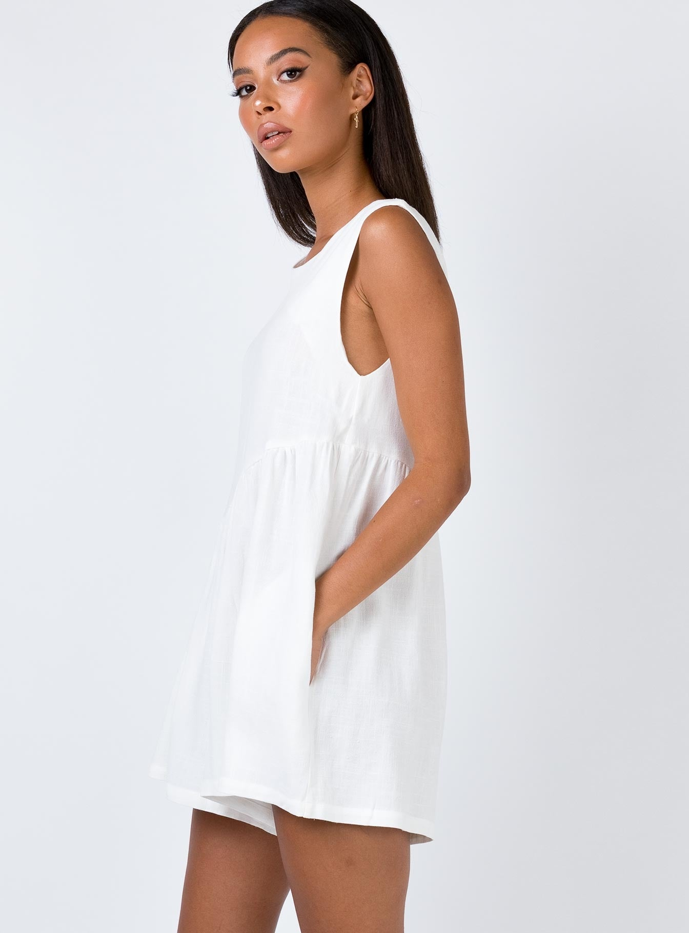 The Alder Playsuit White