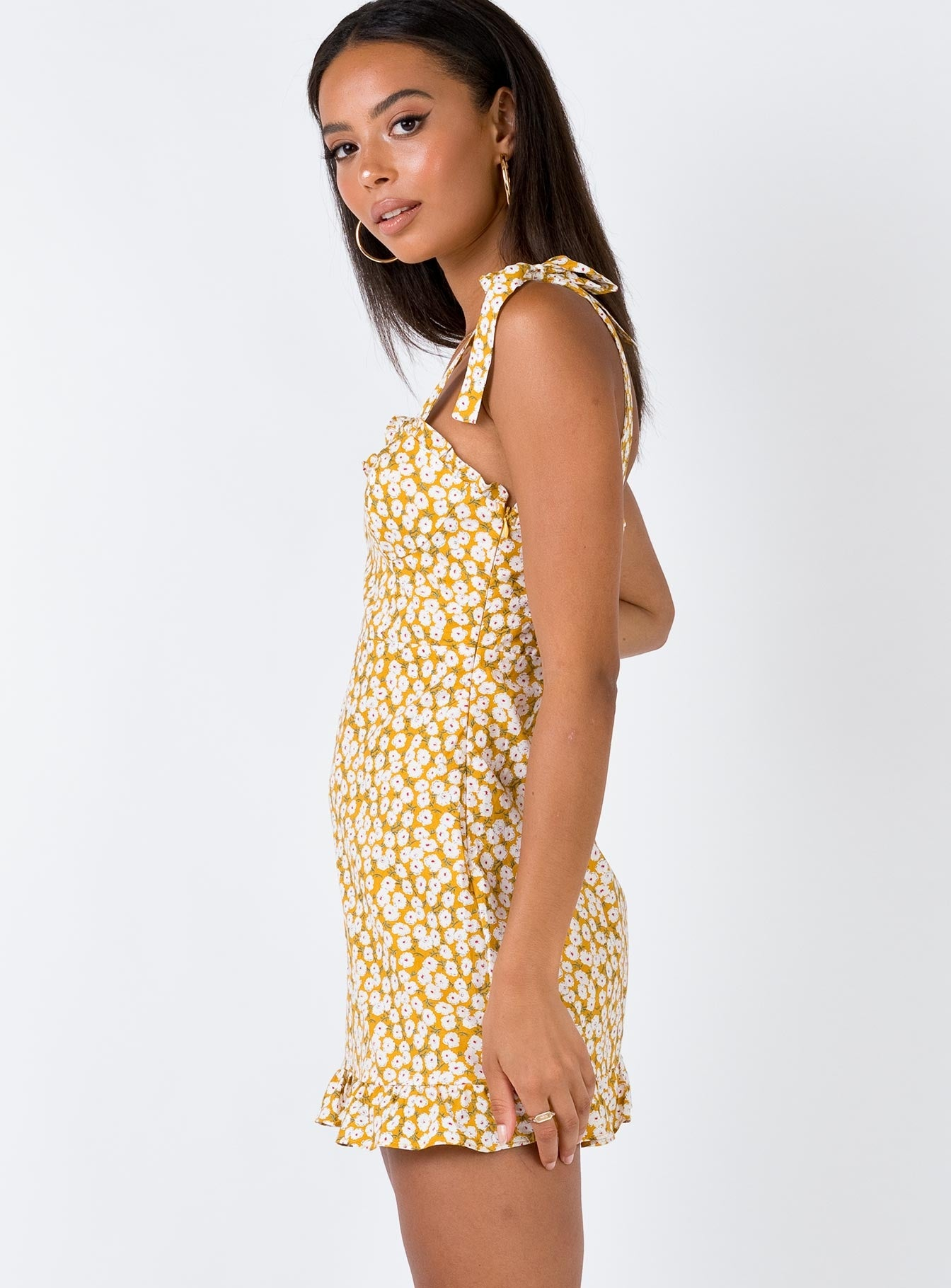 The Teagan Mini Dress Yellow