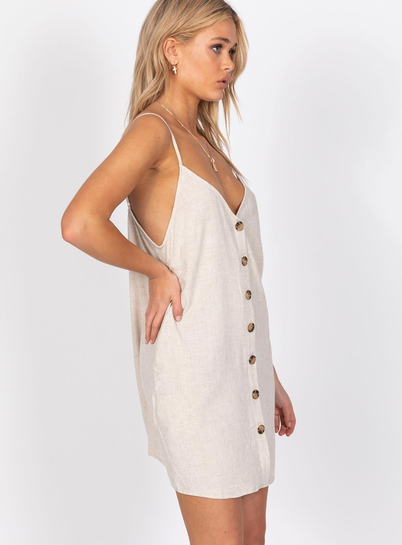 Melophobia Mini Dress Beige
