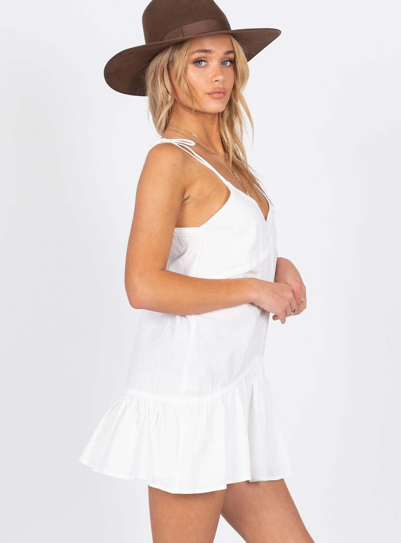 Burnar Mini Dress White