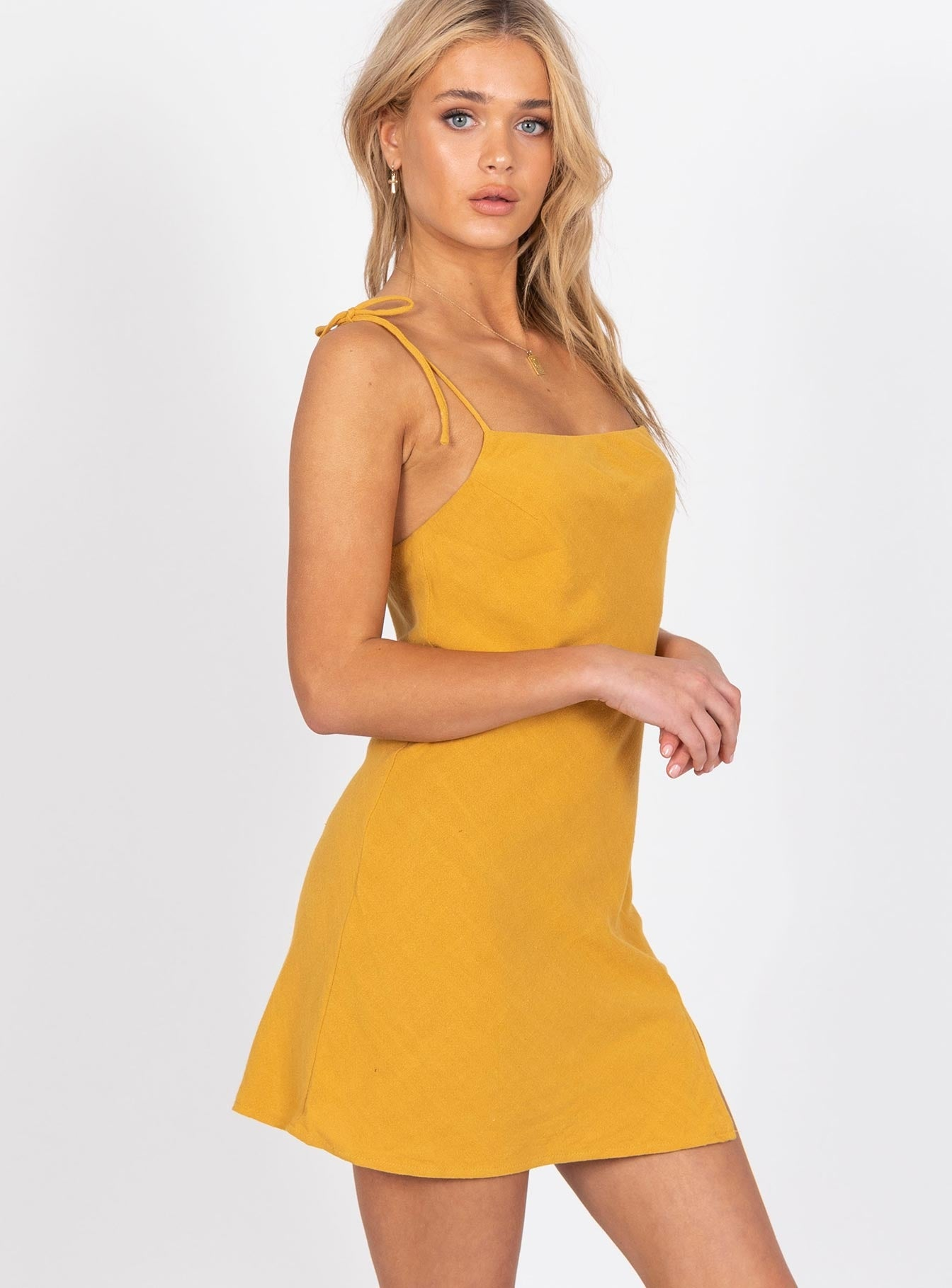 Ilaria Mini Dress Mustard