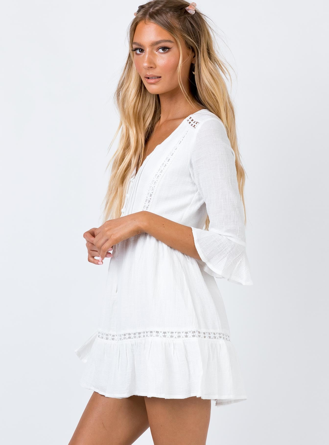 Chlo Mini Dress White