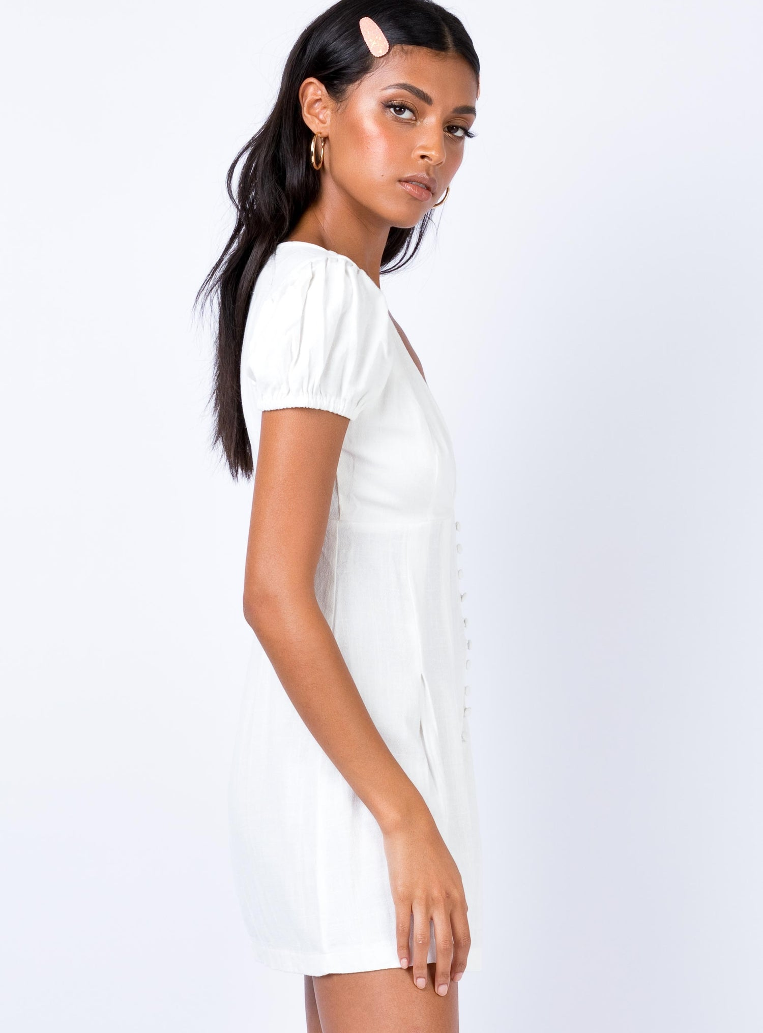 Alibi Mini Dress White